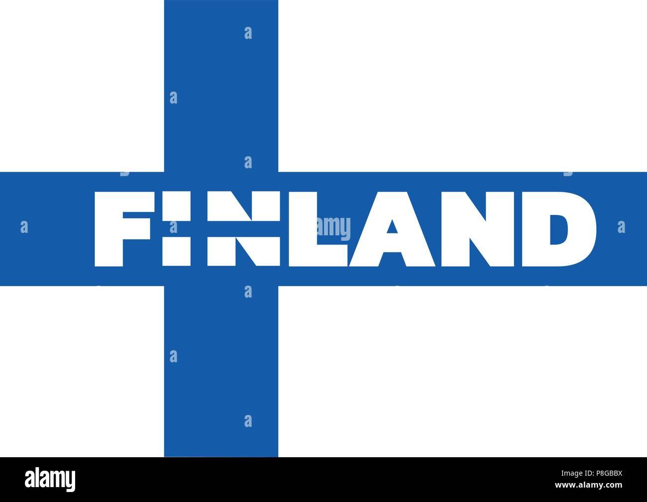 Bandiera Della Finlandiala Combinazione Di I E N è Anche Stilizzata