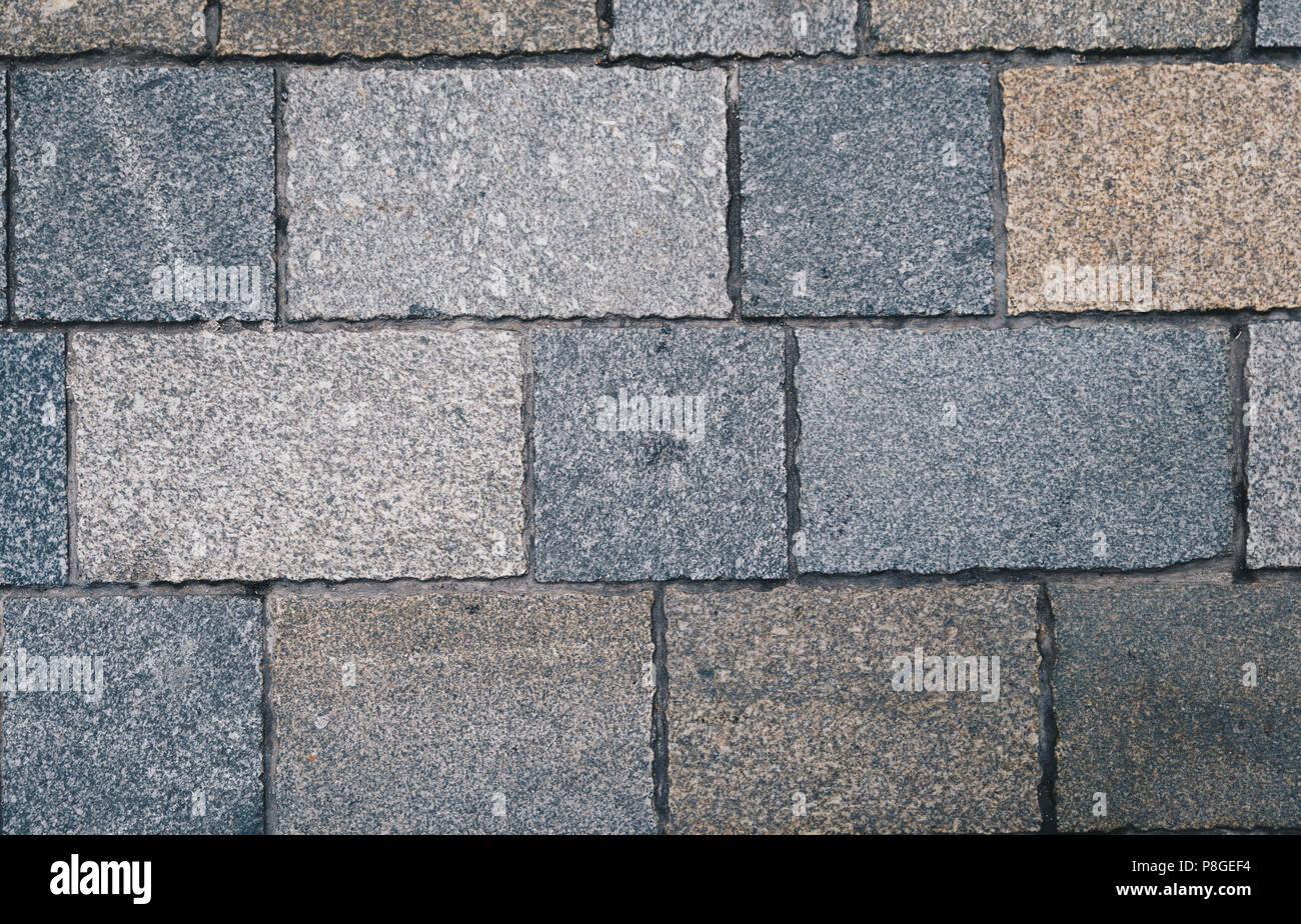 Pavimento di piastrelle texture dello sfondo. quadrato grigio