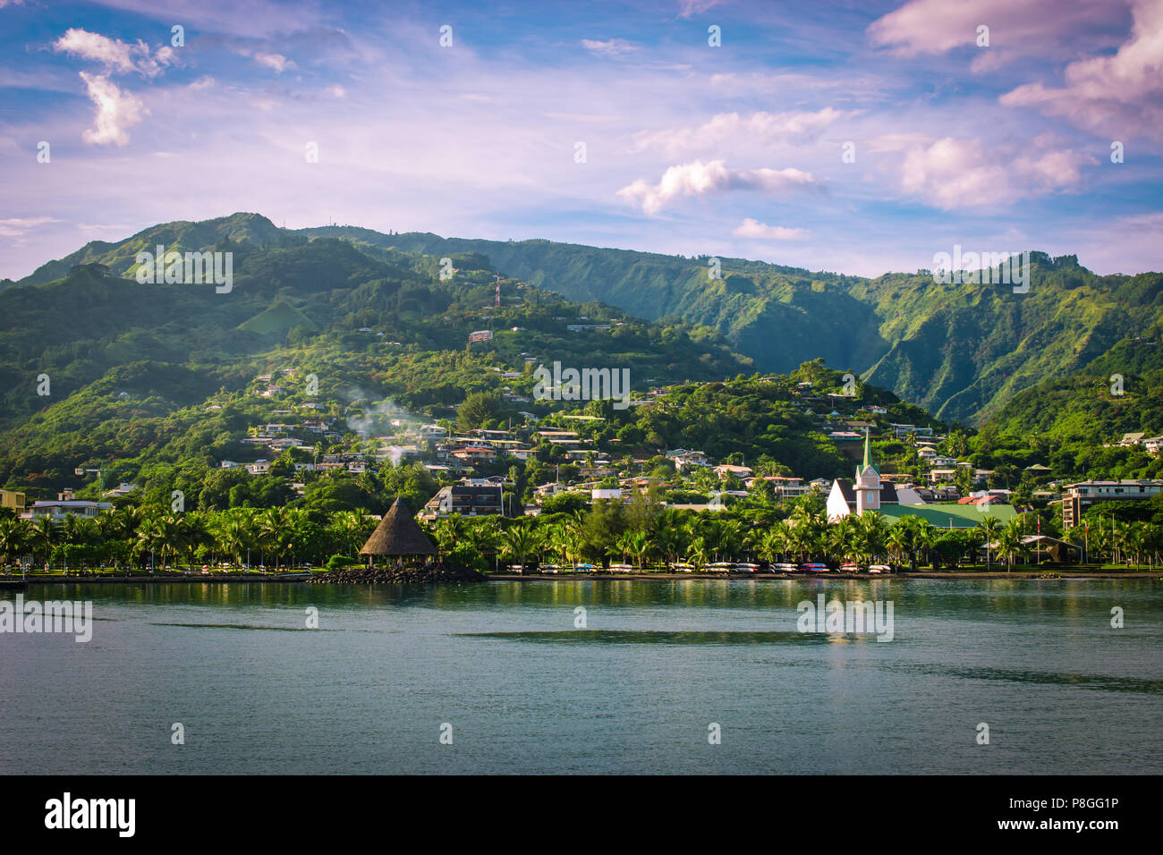 Papeete, Tahiti, Polinesia Francese Immagini Stock