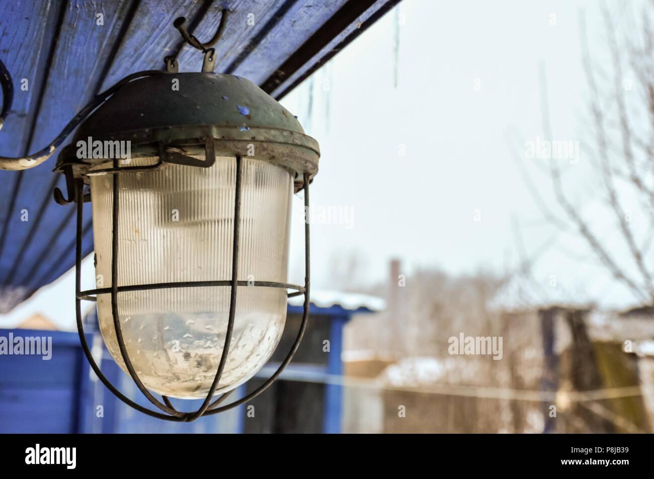 Ferro vecchio lampada elettrica outdoor lifestyle design foto