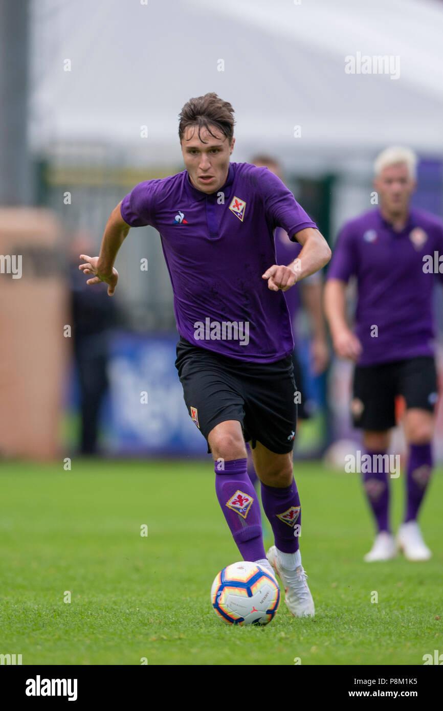 635b4c3f26921 Federico Chiesa (Fiorentina) durante l italiano  Serie A  match tra  Fiorentina 10-0 Team Val di Fassa a Cesare Benatti Stadium sulla luglio 11