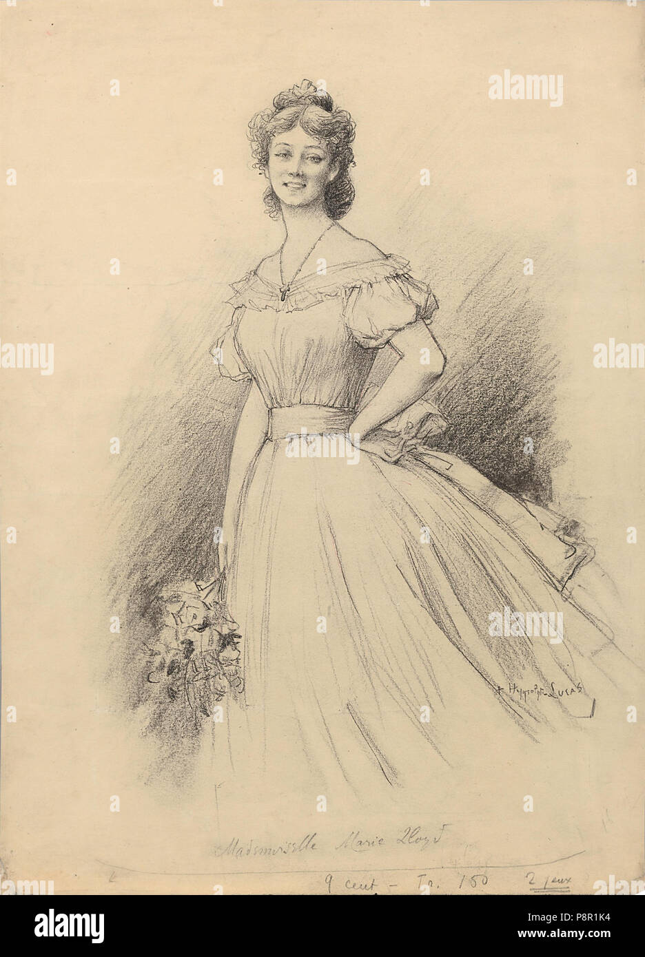 411 Marie-Félix Hippolyte-Lucas - Portrait de Marie Lloyd Foto Stock