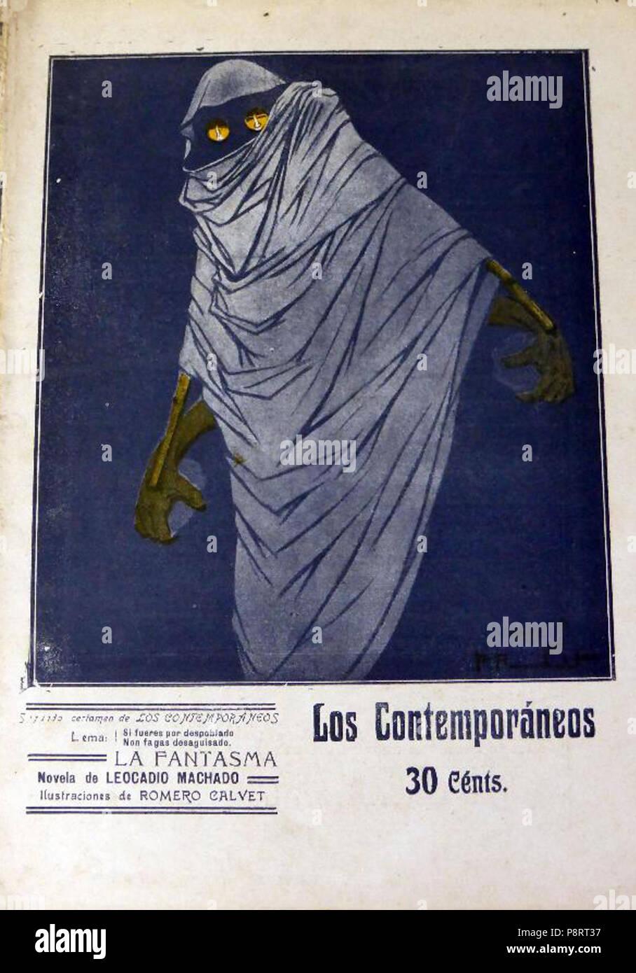 16 1911-08-25, Los Contemporáneos, La fantasma, de Leocadio Machado, Romero Calvet Immagini Stock