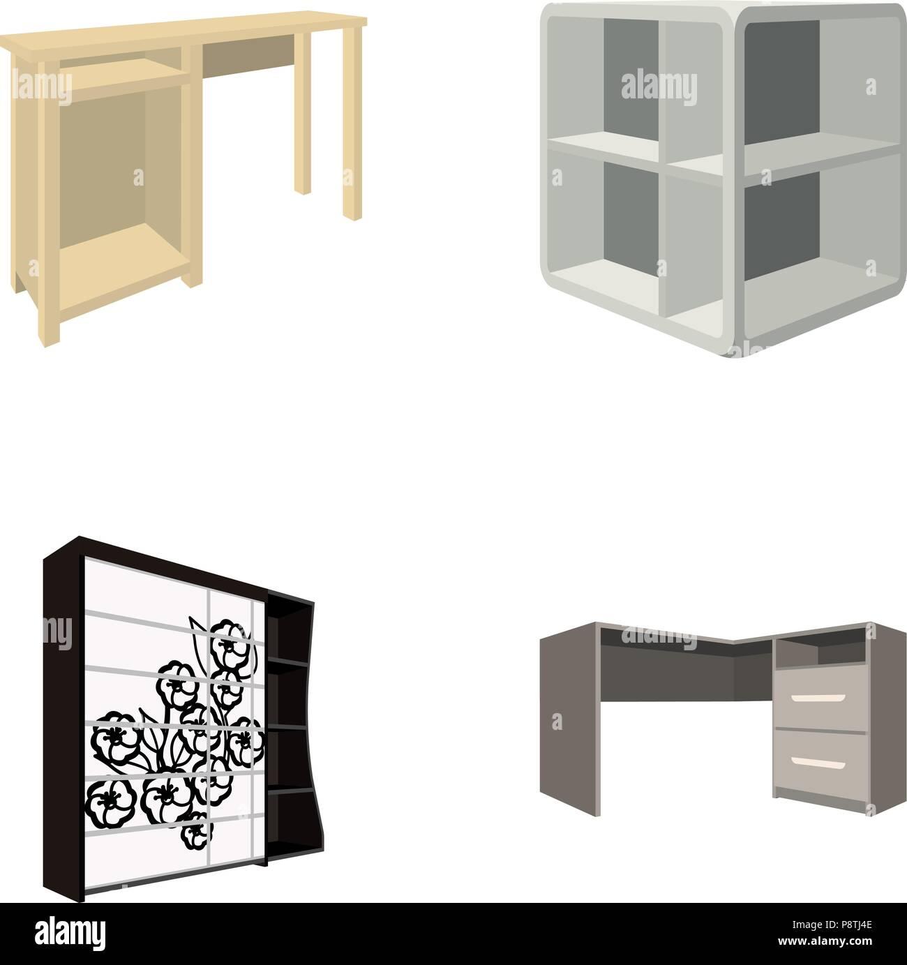 Toeletta, angolo ripiani, scrivania, armadio con vetro ...