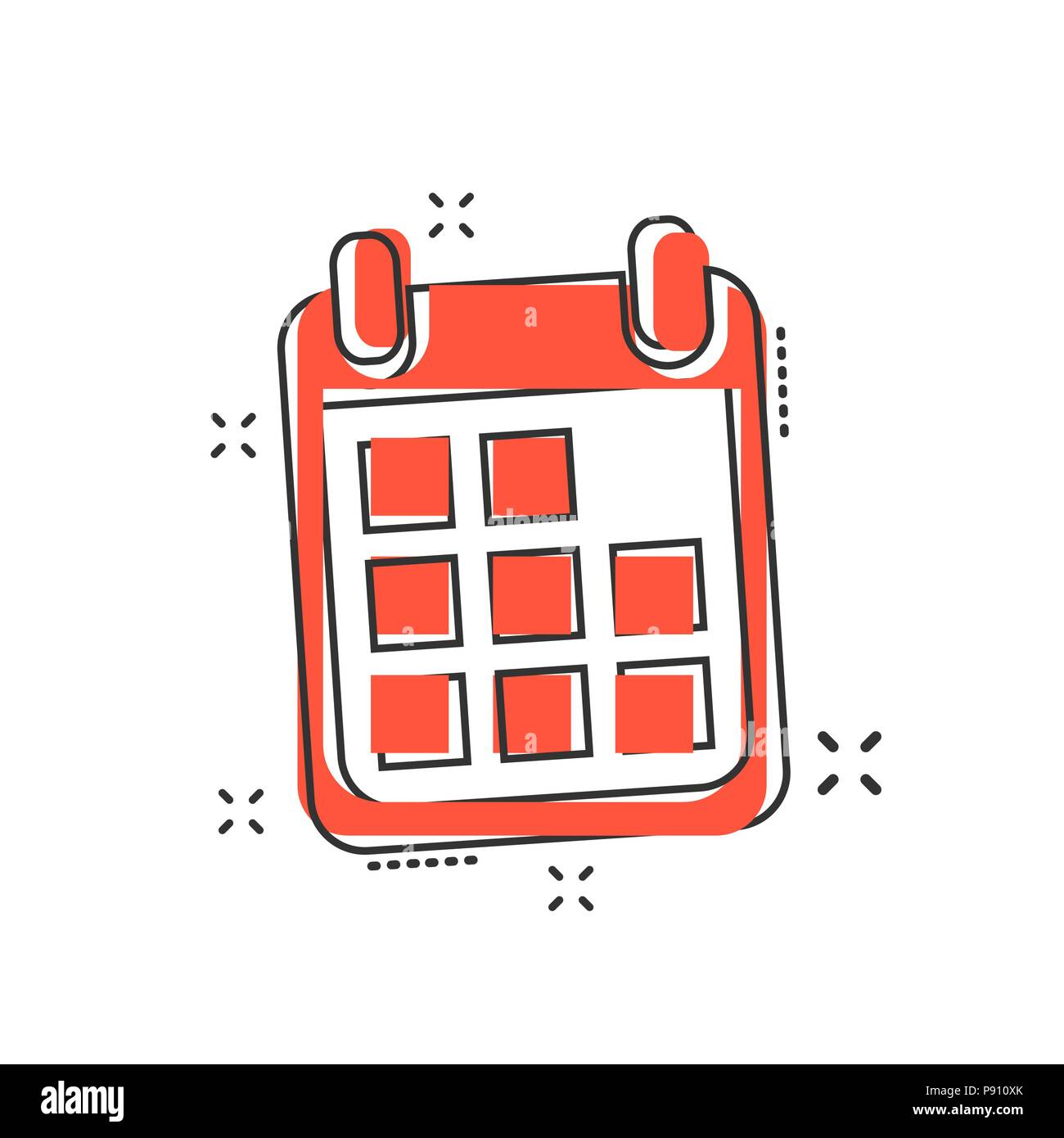 Calendario Icona.Vector Cartoon Icona Calendario In Stile Fumetto Segno Del