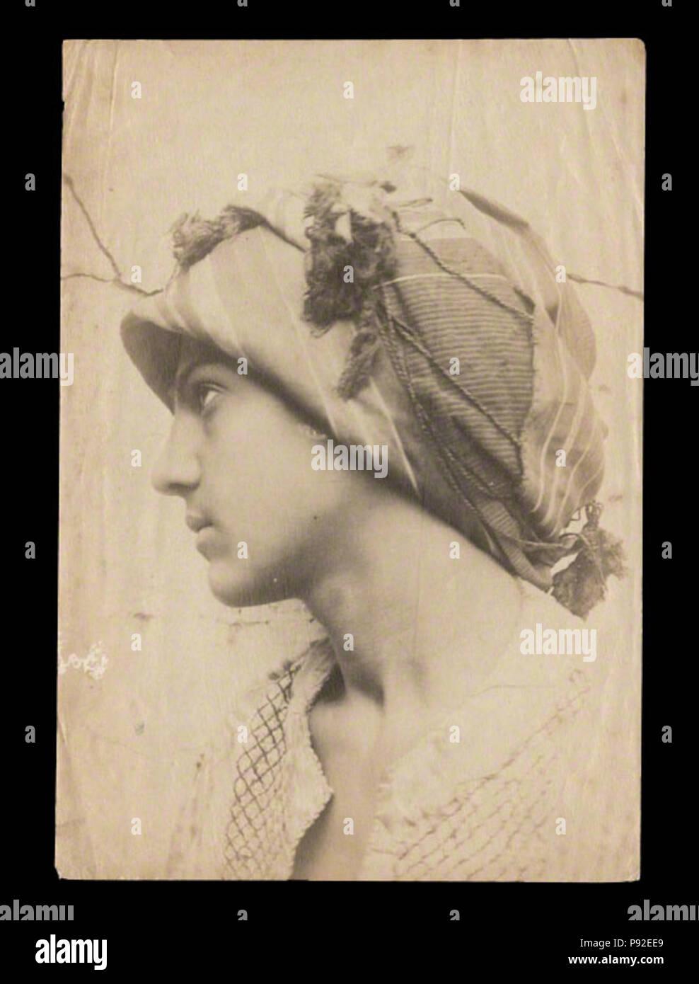 465 Pluschow, Wilhelm von (1852-1930) - n. 1298 - Galdi col turbante - da - p arcadiennes Immagini Stock