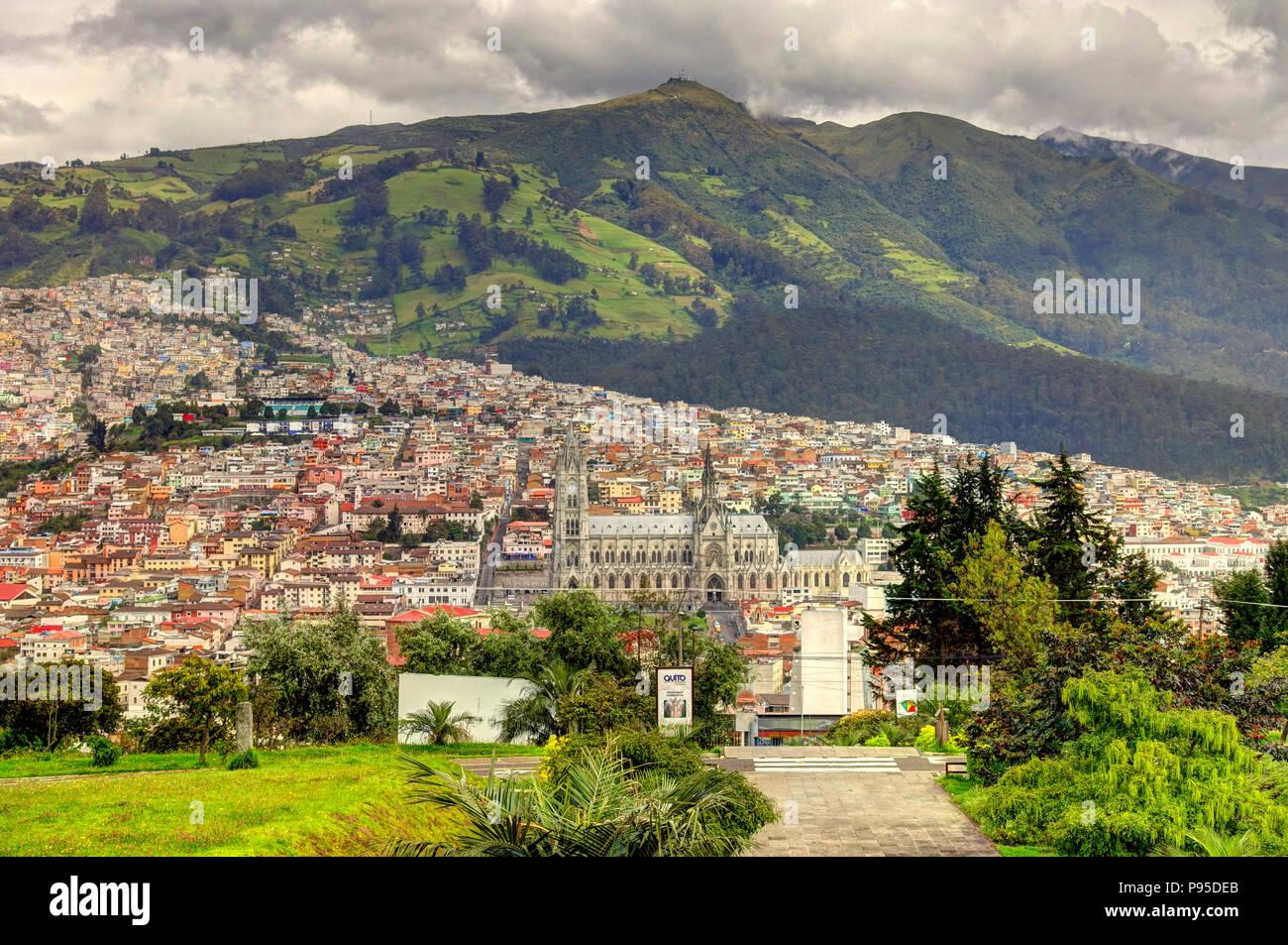 Quito, capitale dell'Ecuador Immagini Stock
