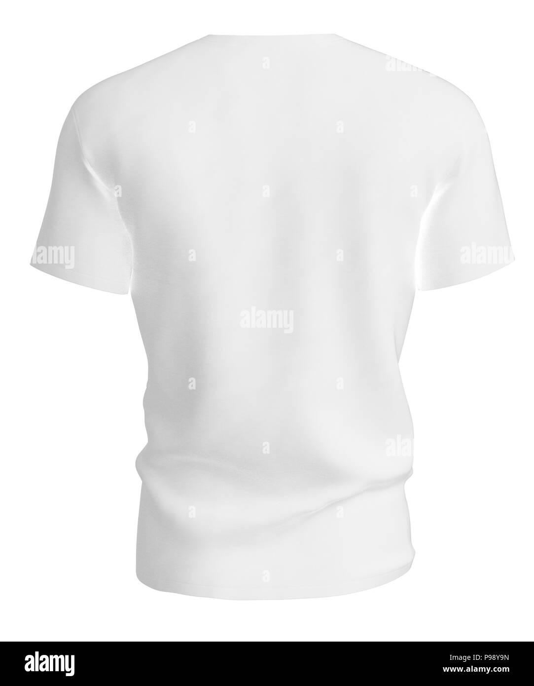 Isolati Sfondo Template Uomo T Bianco Shirt Su Design HDW2E9YI