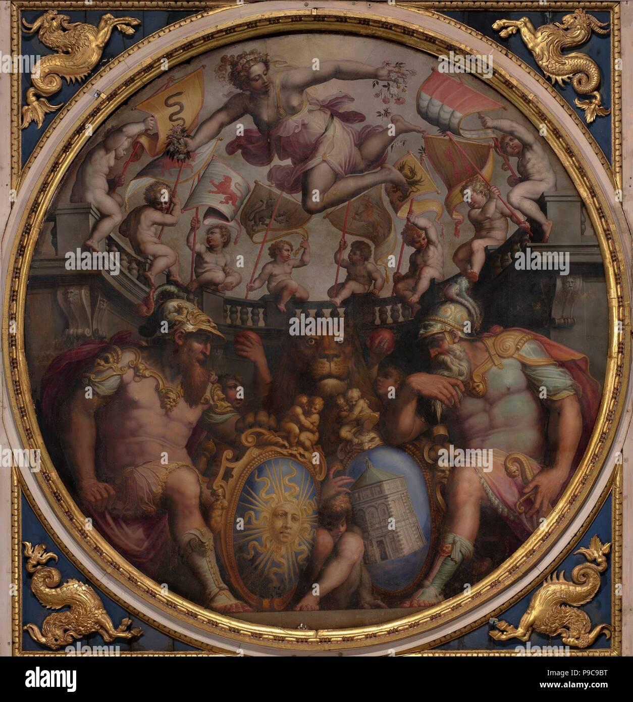 Le allegorie dei quartieri di San Giovanni e Santa Maria Novella. Museo: Palazzo Vecchio, Firenze. Foto Stock
