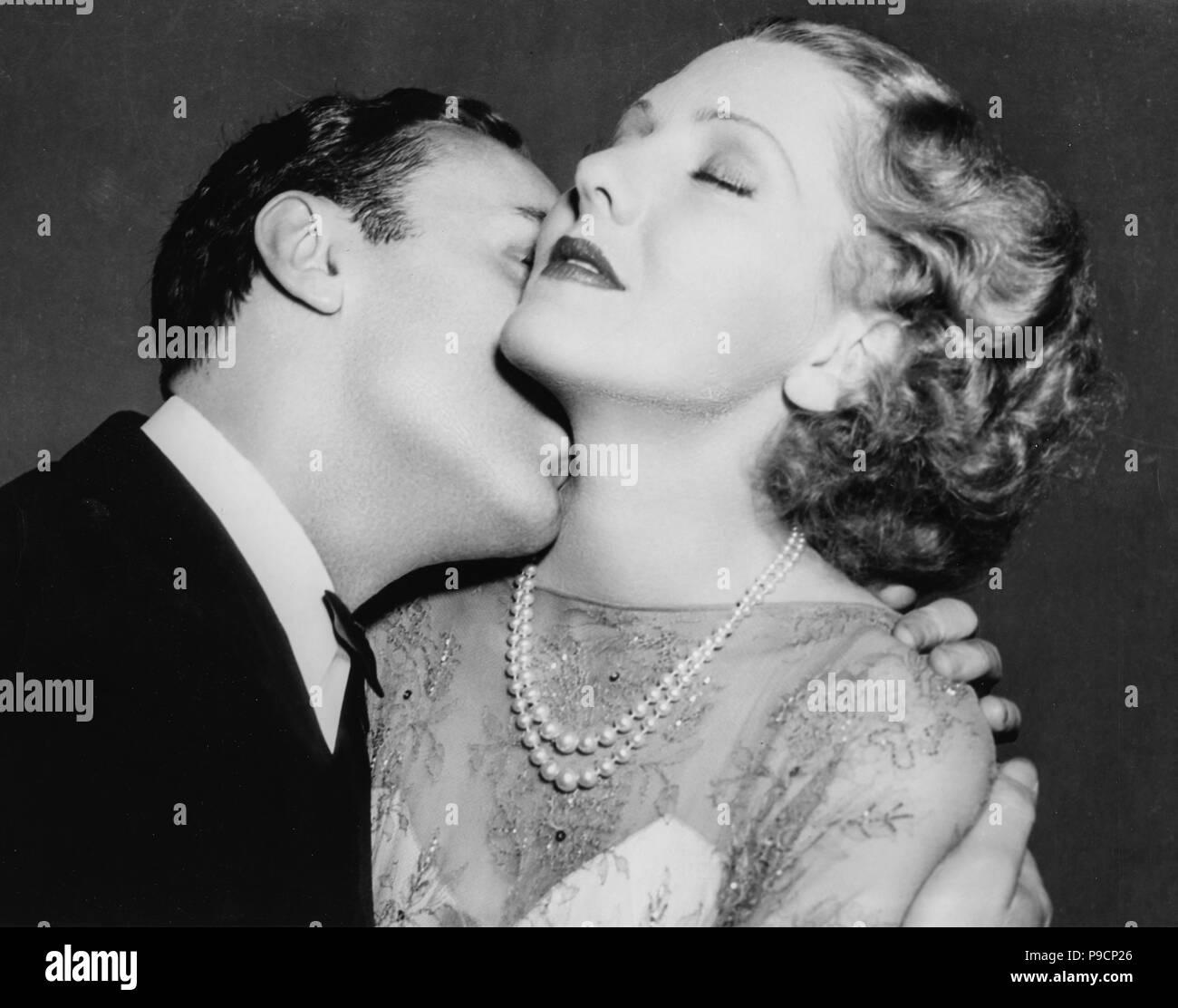 Jean arthur, Charles Boyer, la storia è fatta di notte, 1937 Immagini Stock