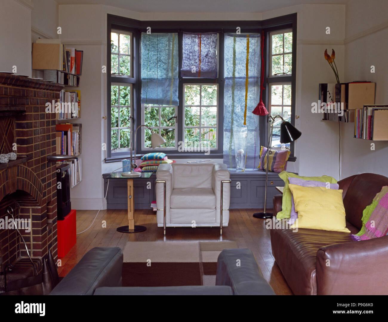 Salotto Le Corbusier.Bianco Pelle Le Corbusier Poltrona Stile Nella Parte