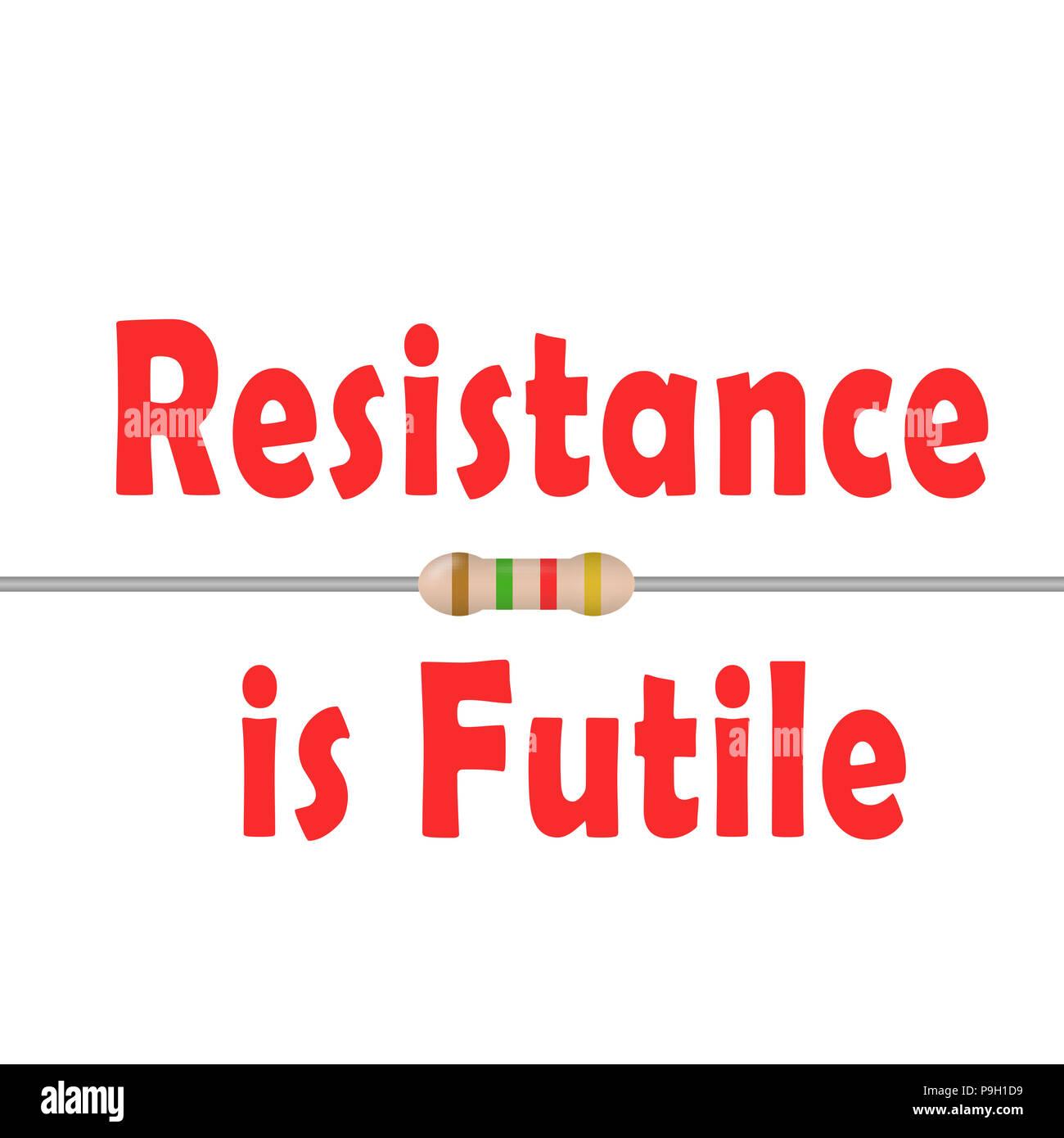 Famose Citazioni Resistenza è Futile Foto Immagine Stock