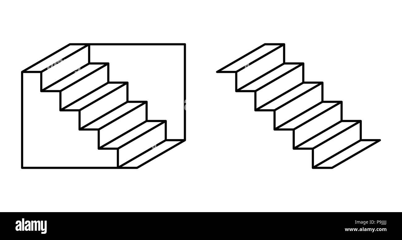 Schroeder Scale Illusione Ottica Disegno Che Può Essere Percepito