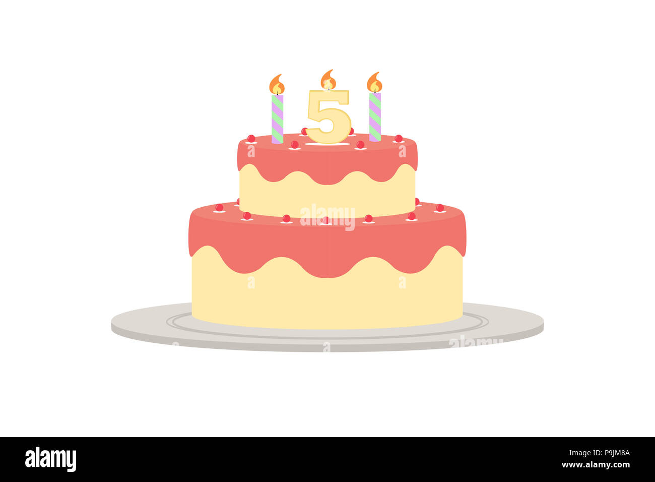 Number Five Candle Immagini Number Five Candle Fotos Stock Alamy
