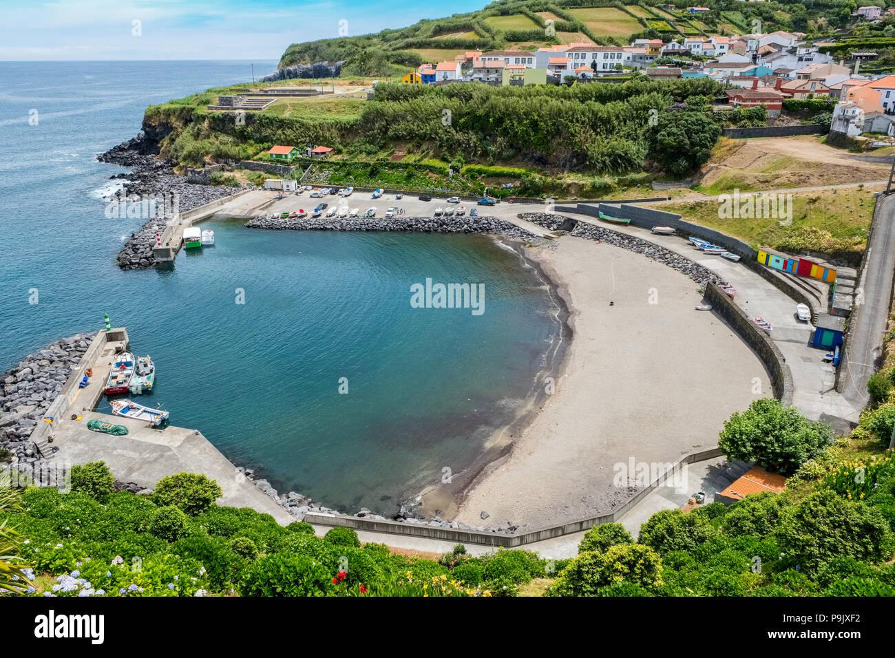 Porto Formosa sulla costa nord di Sao Miguel, Azzorre Immagini Stock