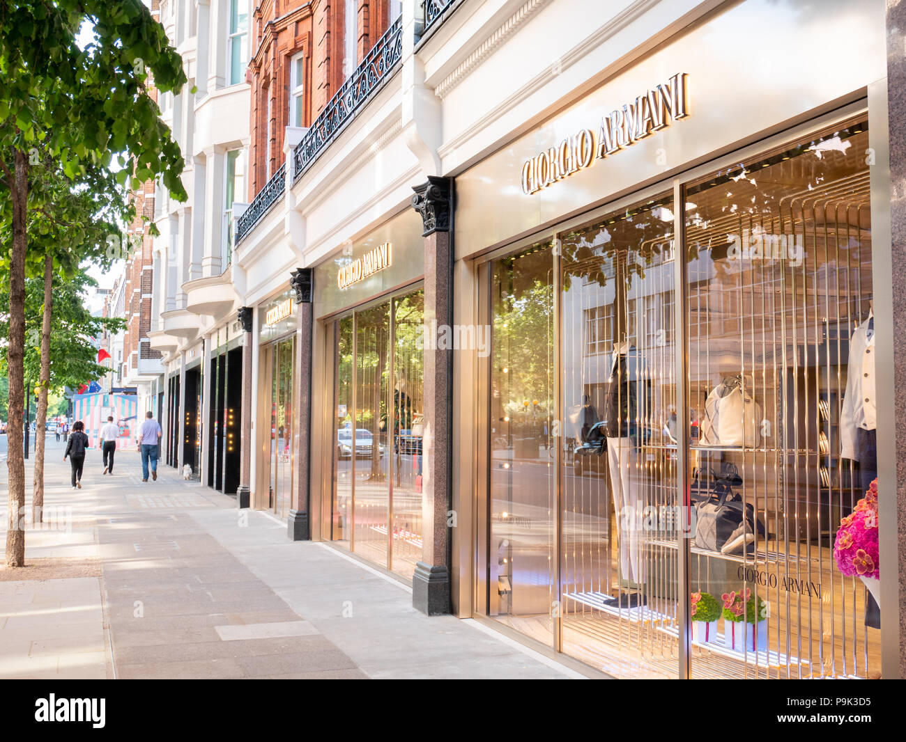 Sloane Street, Londra, Regno Unito Immagini Stock