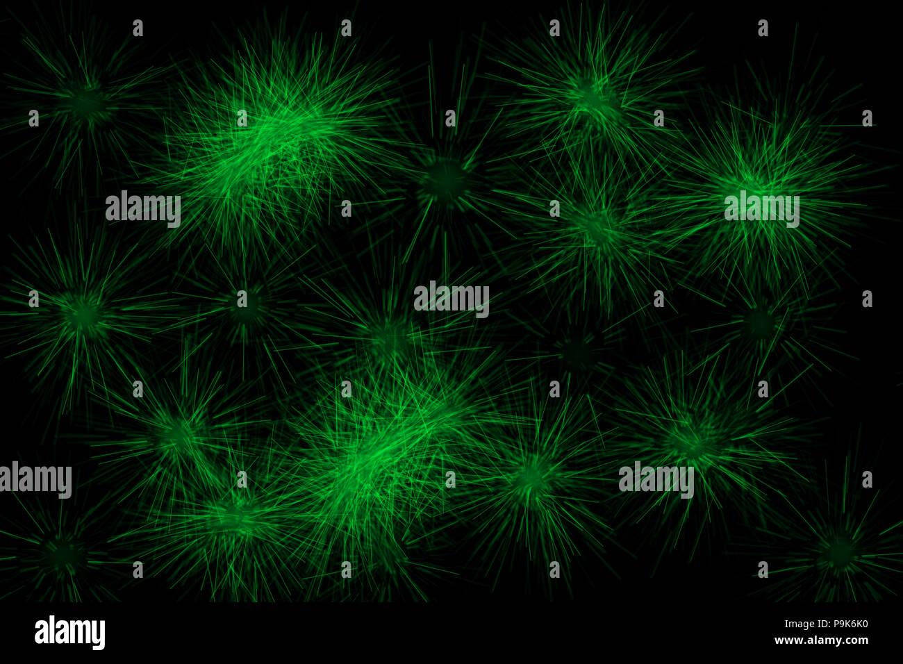 Fuochi D Artificio Scintille Sfondo Astratto Al Neon Verde