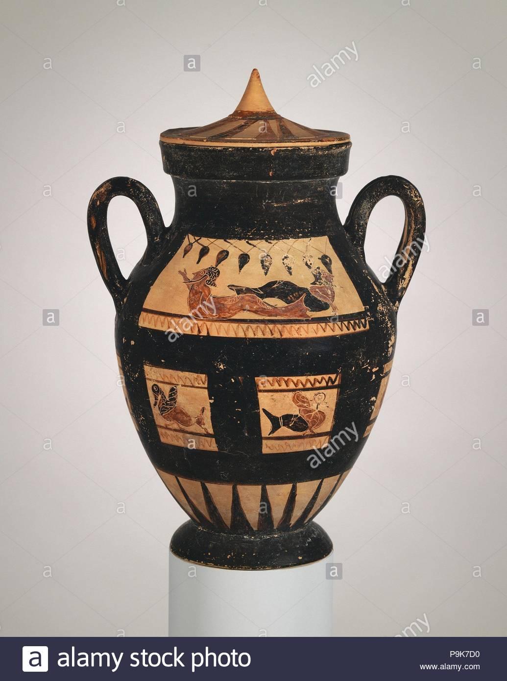 Decorazioni Dei Vasi Greci.Decorazione Di Un Vaso Greco