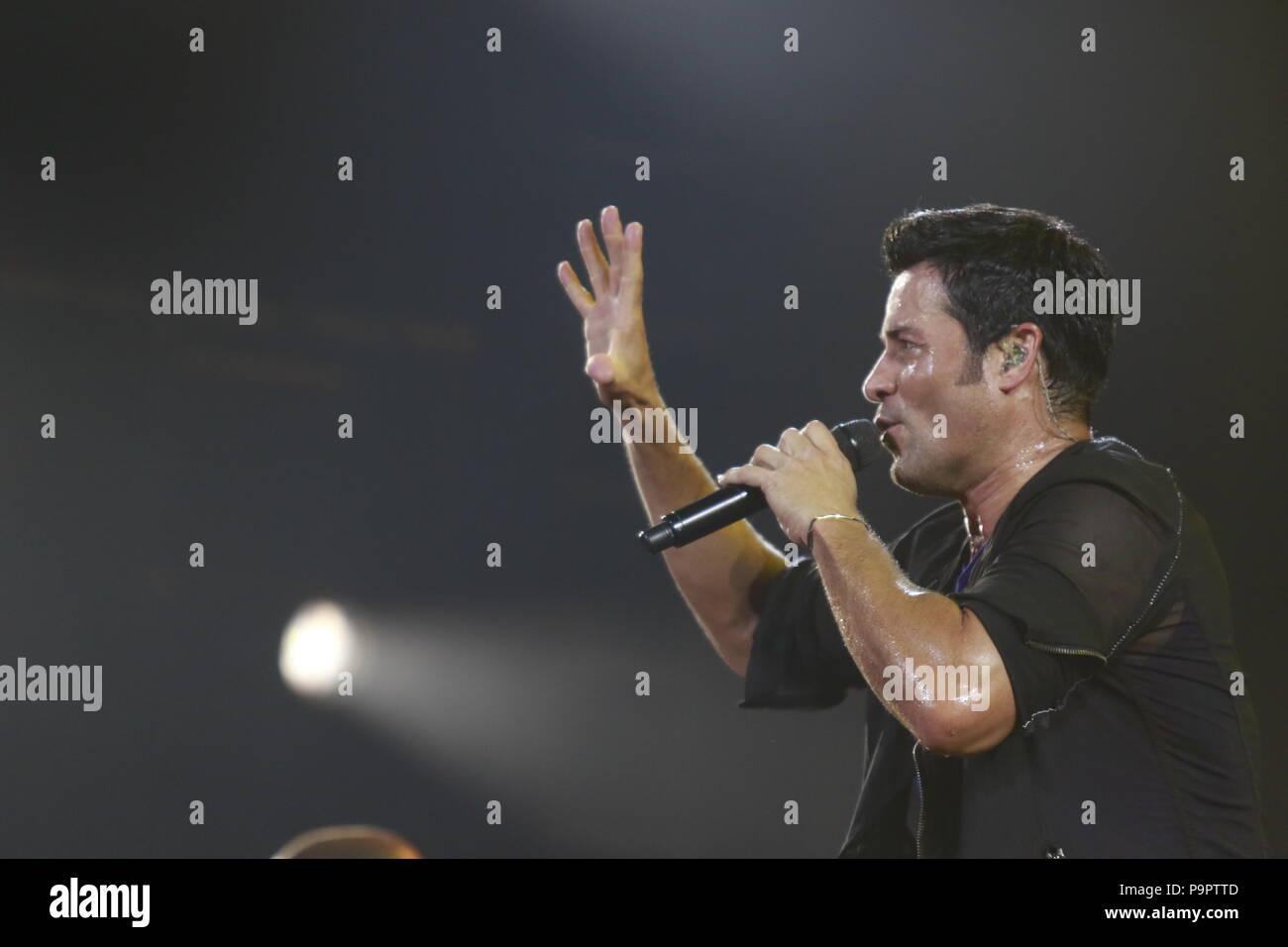 La danzatrice, cantante e il Puerto Rican attore Chayanne, durante la notte del suo concerto in corrispondenza dell'asse al Planet Hollywood di Las Vegas Nevada su 13 Set 2015 Foto Stock