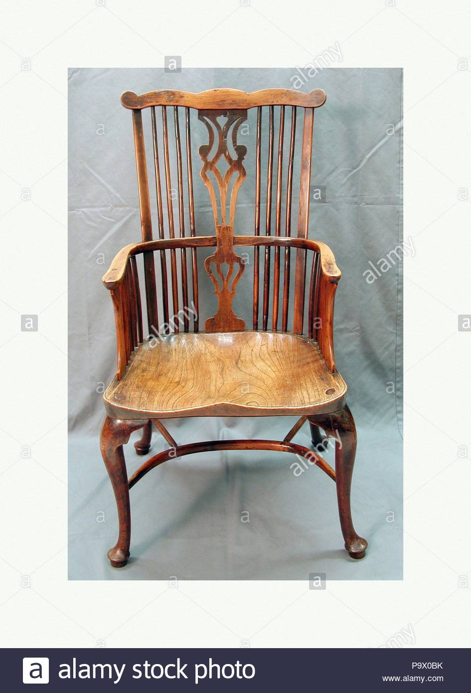 Sedie Americane Da Giardino.Pettine Back Poltrona Windsor Ca 1770 British Yew E In Legno Di