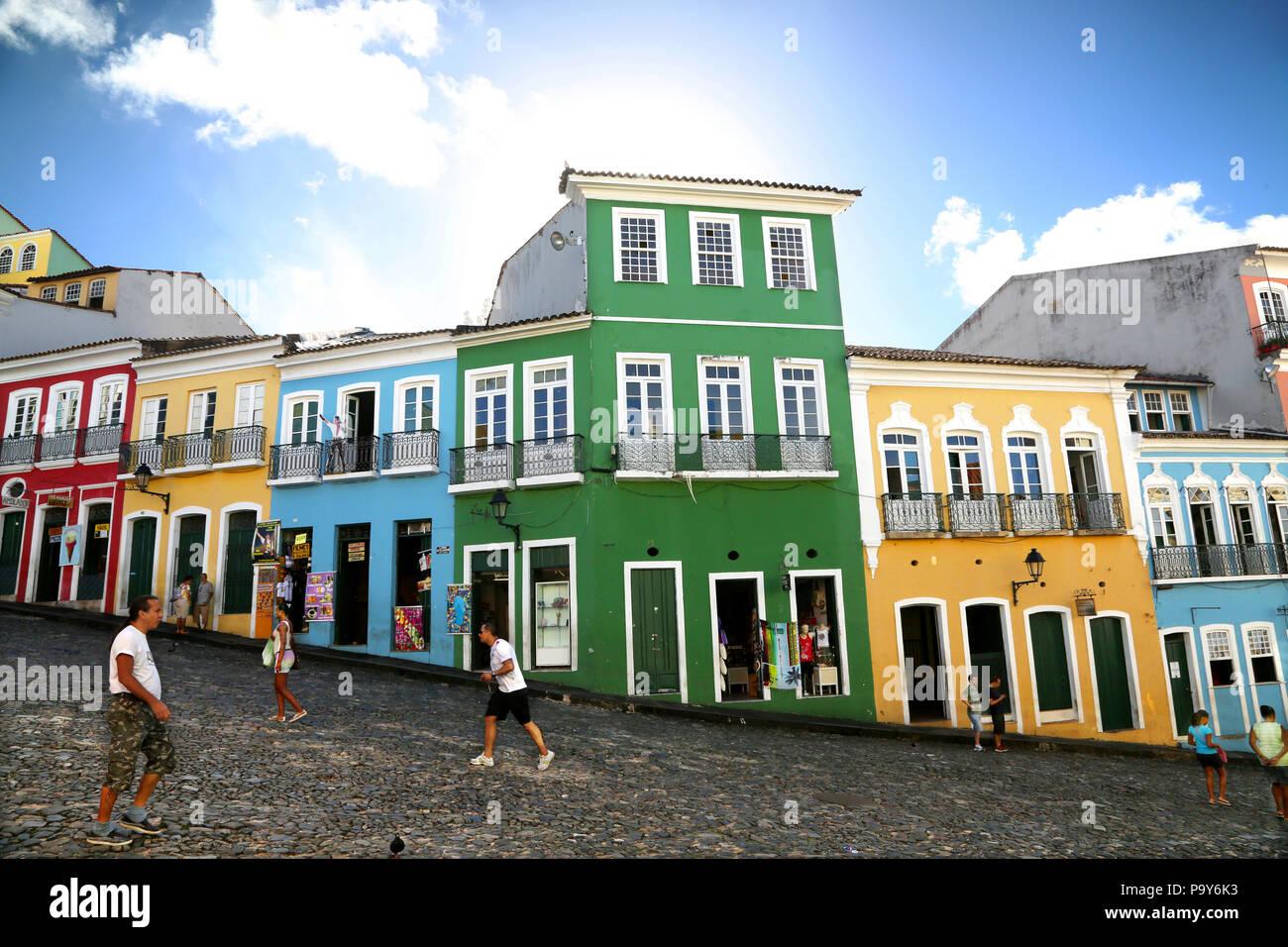 Largo do Pelourinho, Salvador, Bahia , Brasile Immagini Stock