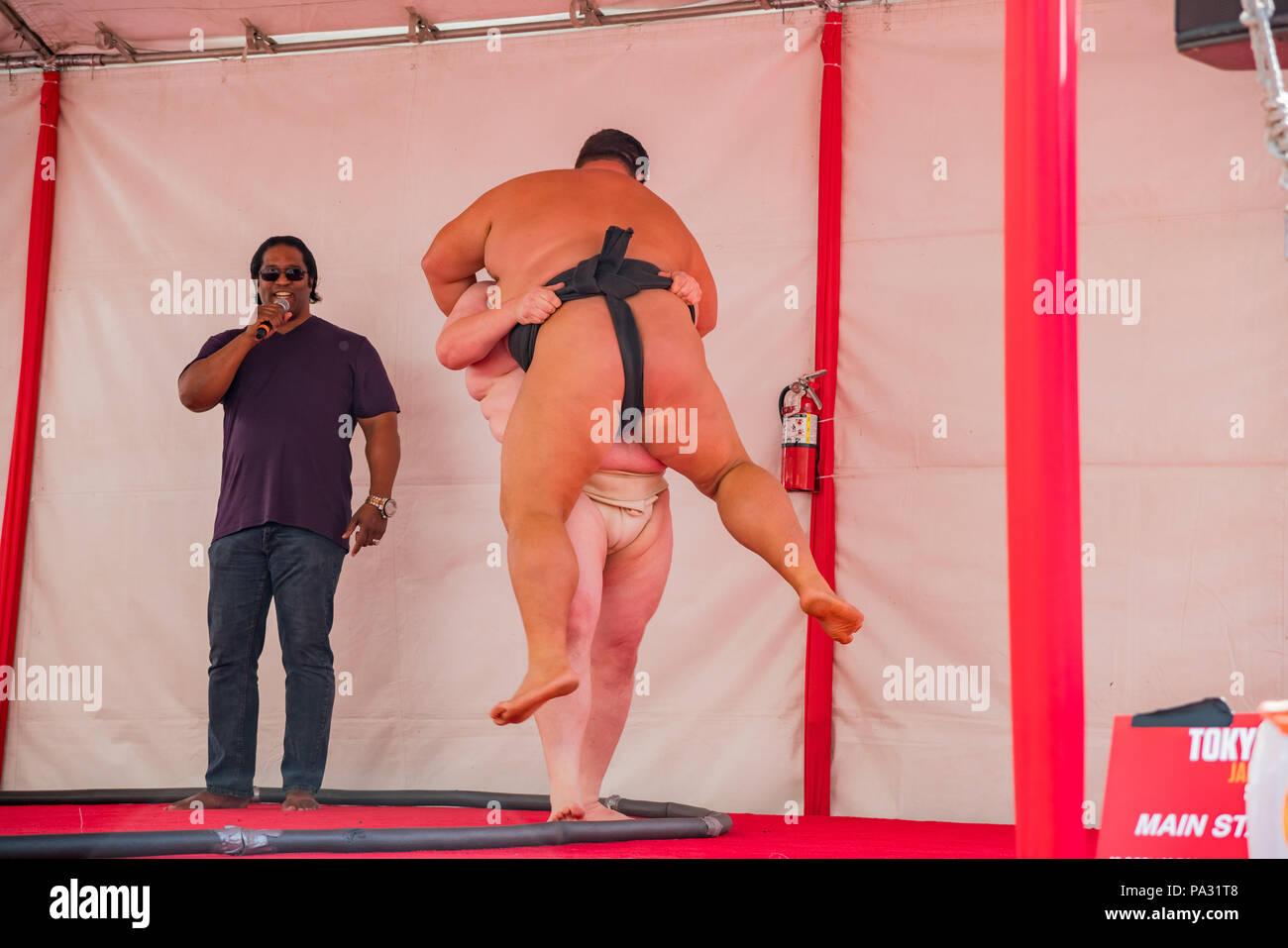Los Angeles, APR 8: prestazioni di Sumo visualizza il Apr 8, 2018 a Los Angeles in California Immagini Stock