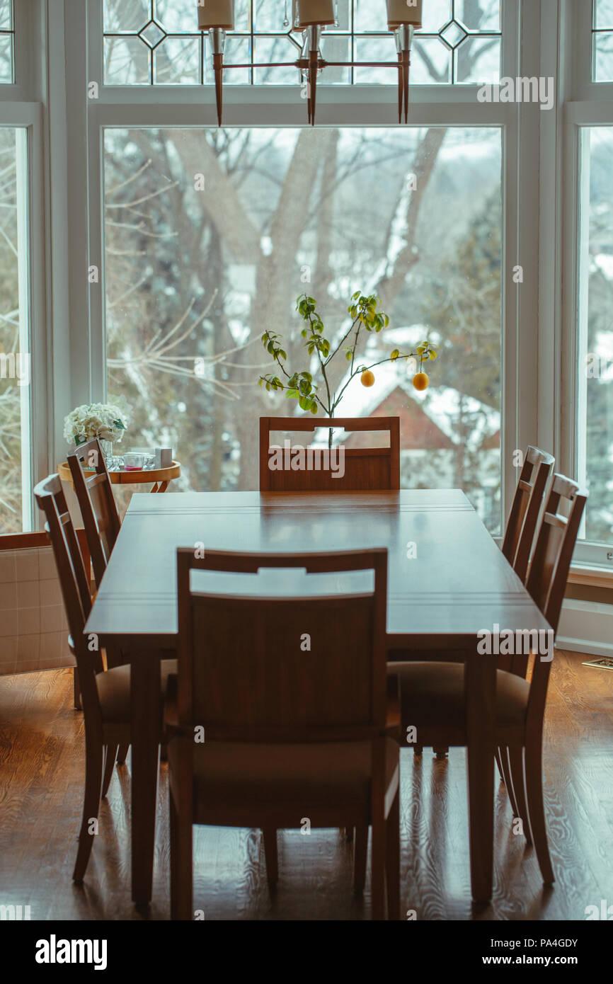 Tavolo Con 6 Sedie In Legno.Grandi Classiche In Legno Tavolo Da Pranzo Con 6 Sedie Intorno A