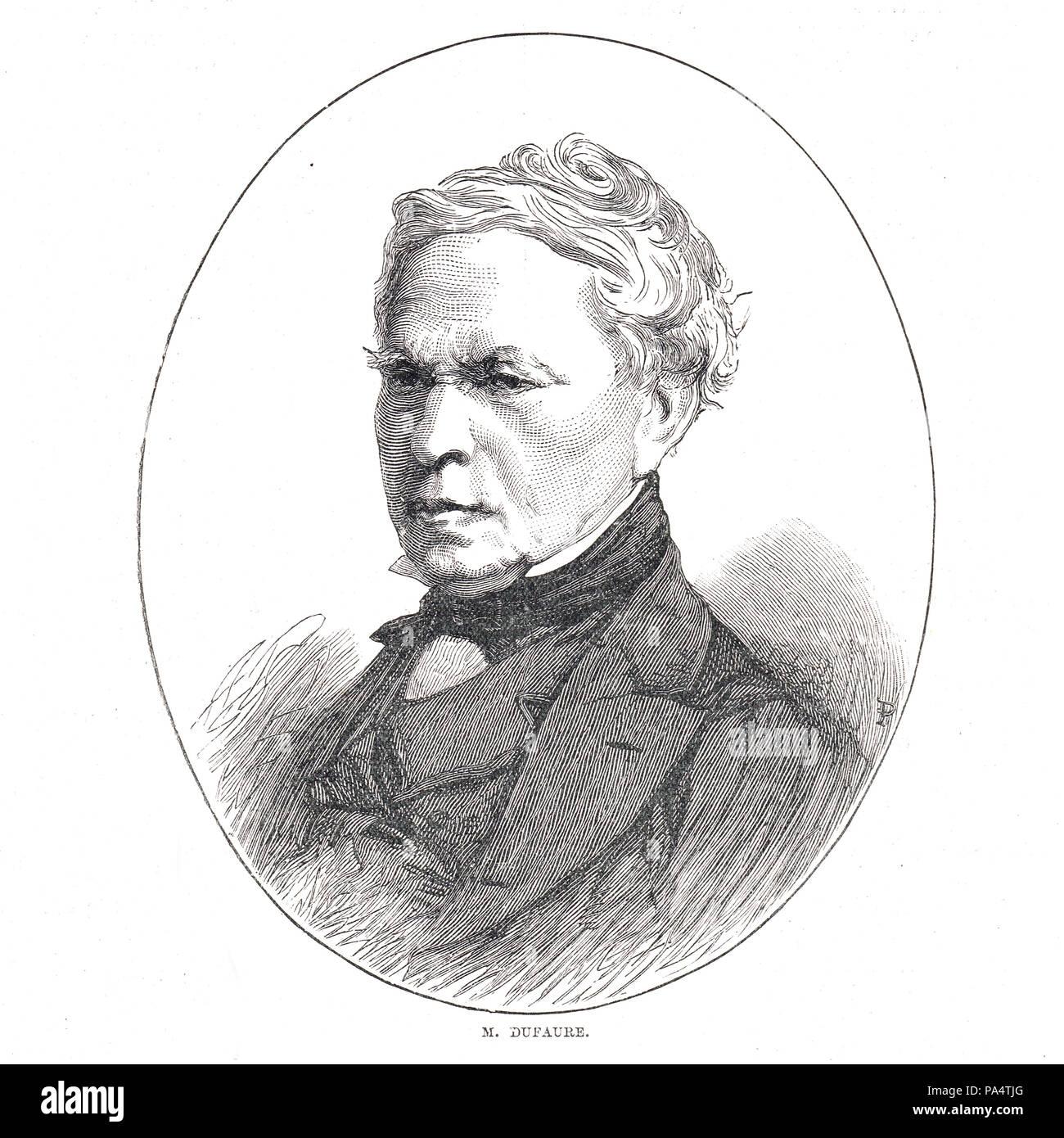 Jules Armand Dufaure, statista francese Immagini Stock