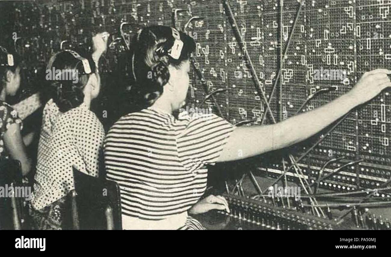 Ufficio Retro Wanita : Switchboard operators immagini & switchboard operators fotos stock