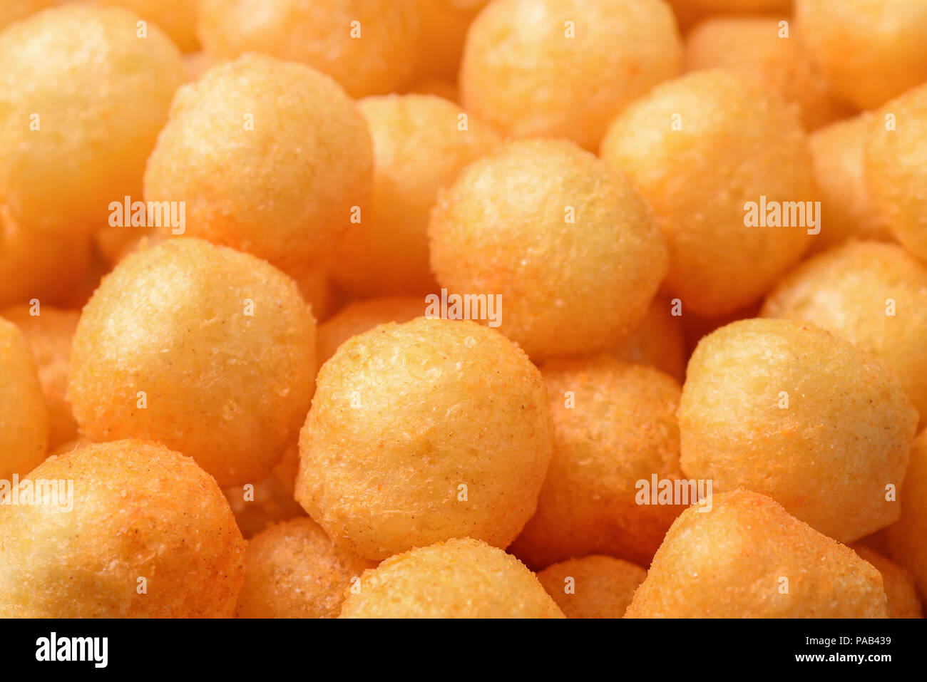 Close up heese puff sfere Immagini Stock
