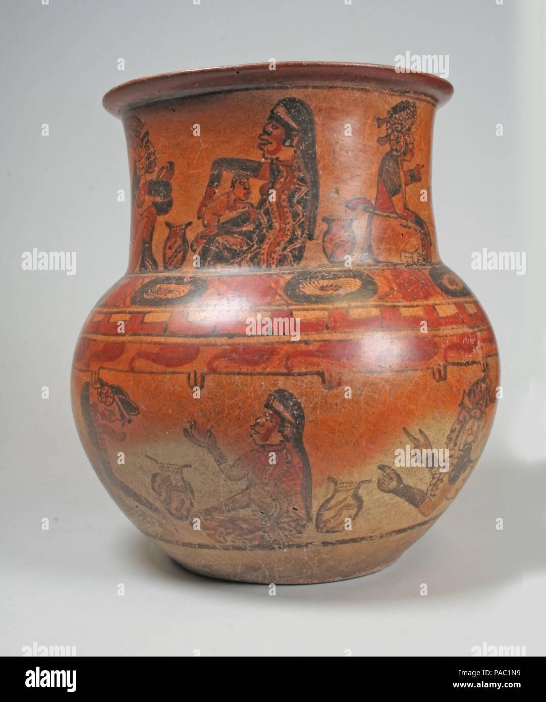 Jar, rituale scene  Cultura: Maya  Dimensioni: H  11 1/2 in