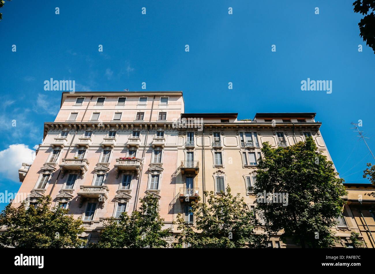 Tradizionale architettura milanese, Italia Immagini Stock