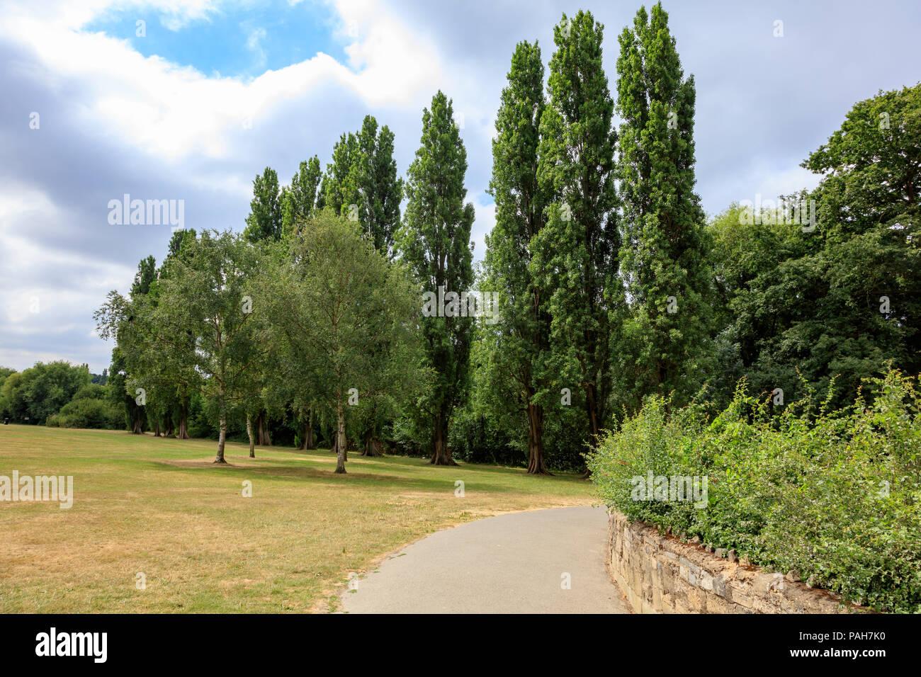 Una calda estate in Danson Park, Bexleyheath, London, Regno Unito Immagini Stock