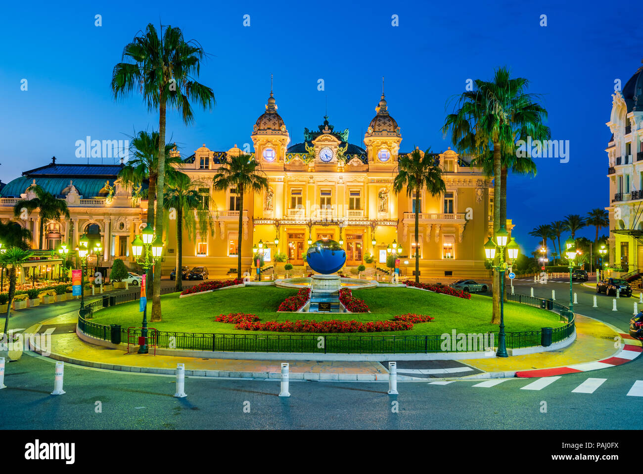 Monte Carlo, Monaco - Luglio 2018 - Il Casinò di Monte Carlo, gioco d'azzardo e nel complesso dei divertimenti di Monte Carlo, Monaco, Cote de Azur, l'Europa. Immagini Stock