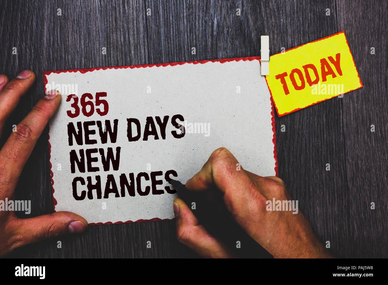 Calendario Significato.La Grafia La Scrittura Di Testo 365 Nuovi Giorni Nuove