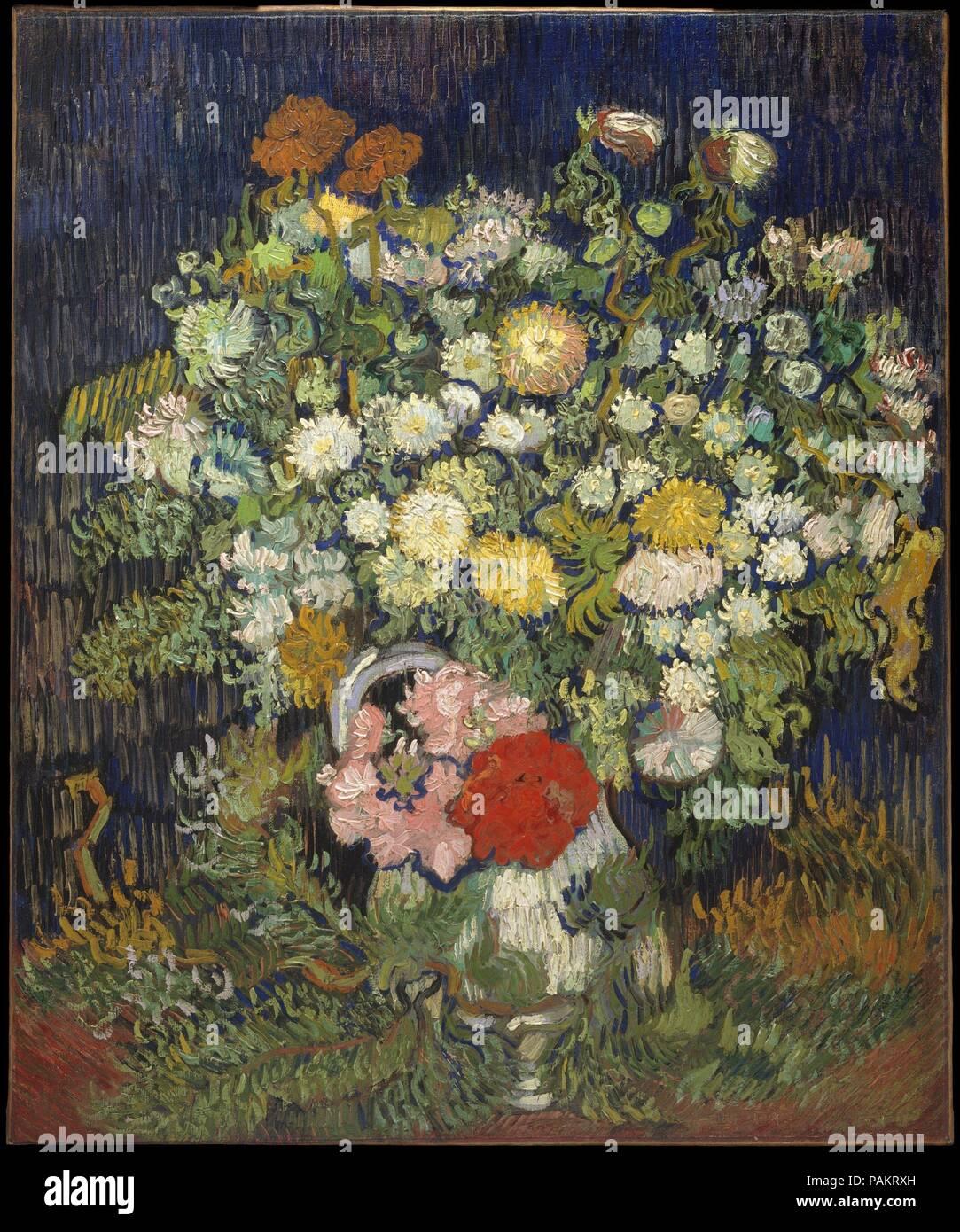 Mazzo Di Fiori Van Gogh.Bouquet Di Fiori In Un Vaso Artista Vincent Van Gogh Olandese