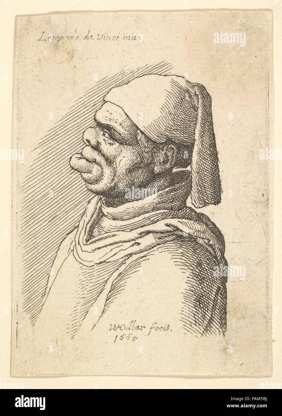 81cba87f1 Busto di un uomo deformata con un cappello e un grasso