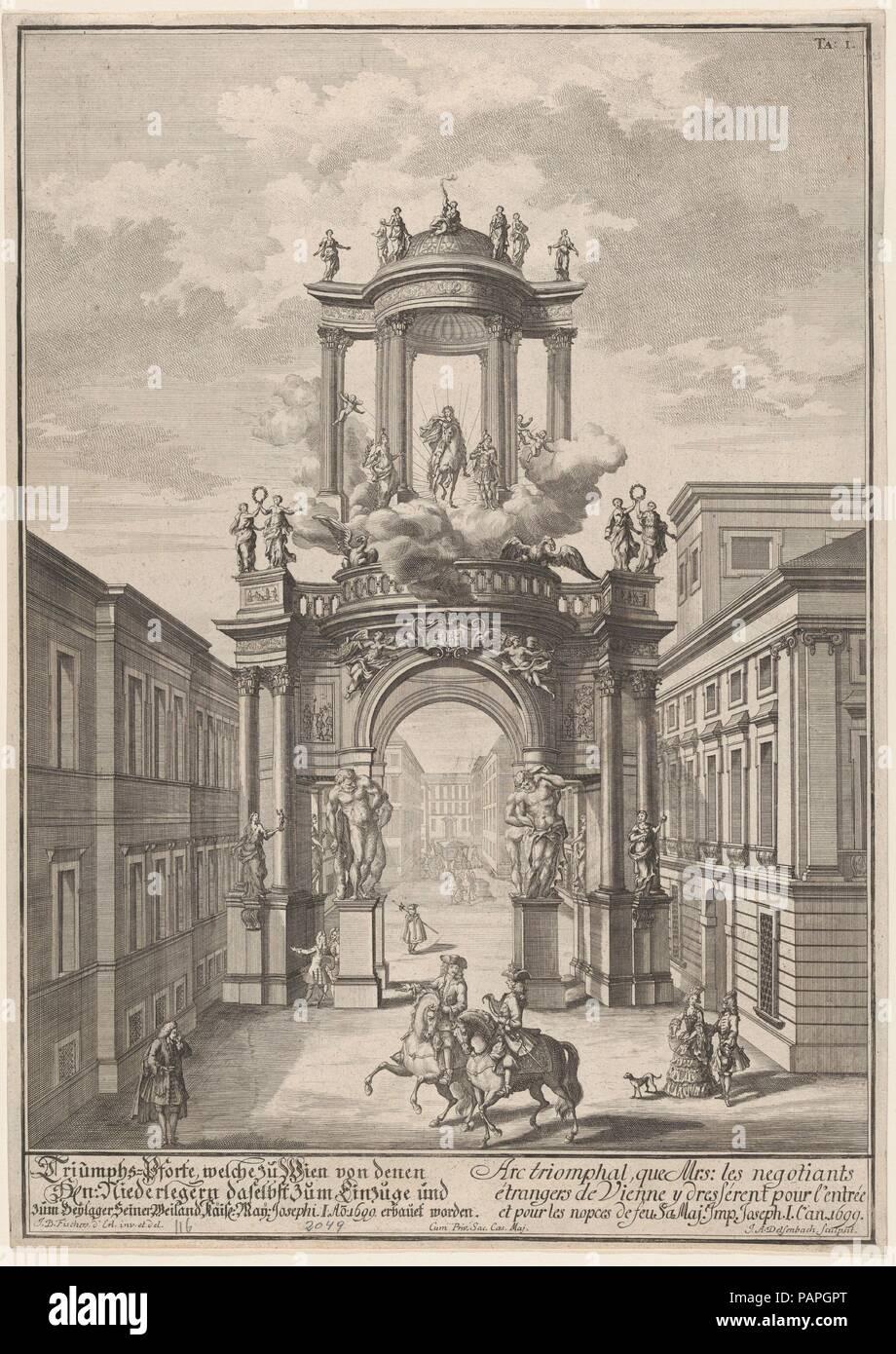 Arco Trionfale Eretto Dai Mercanti Stranieri Di Vienna Per Il