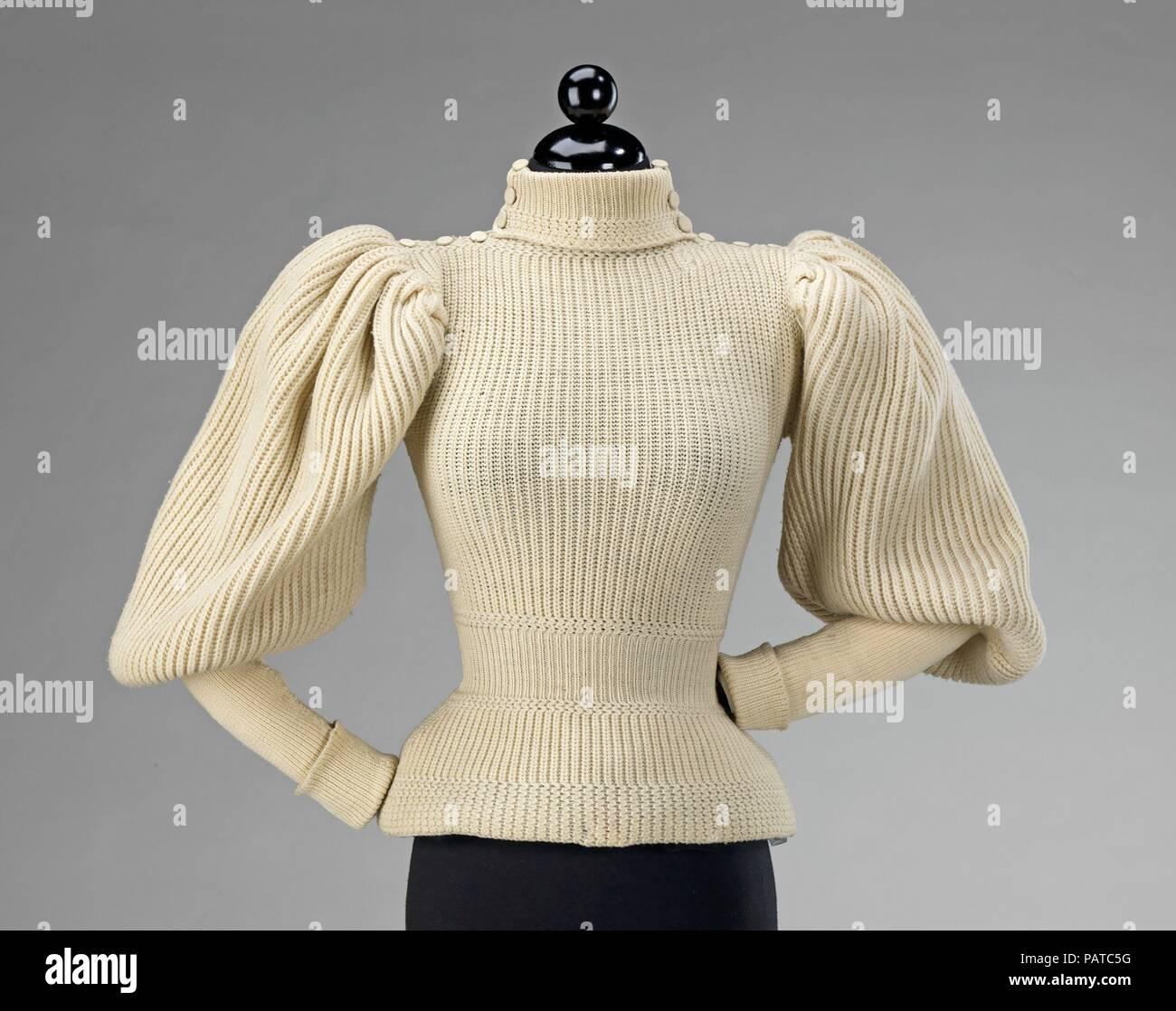 Cultura  probabilmente americano. Data  ca. 1895. Questa primissima  sportswear maglione combina l estetica del vestito alla moda attraverso le sue  grandi ... b31e05c242b