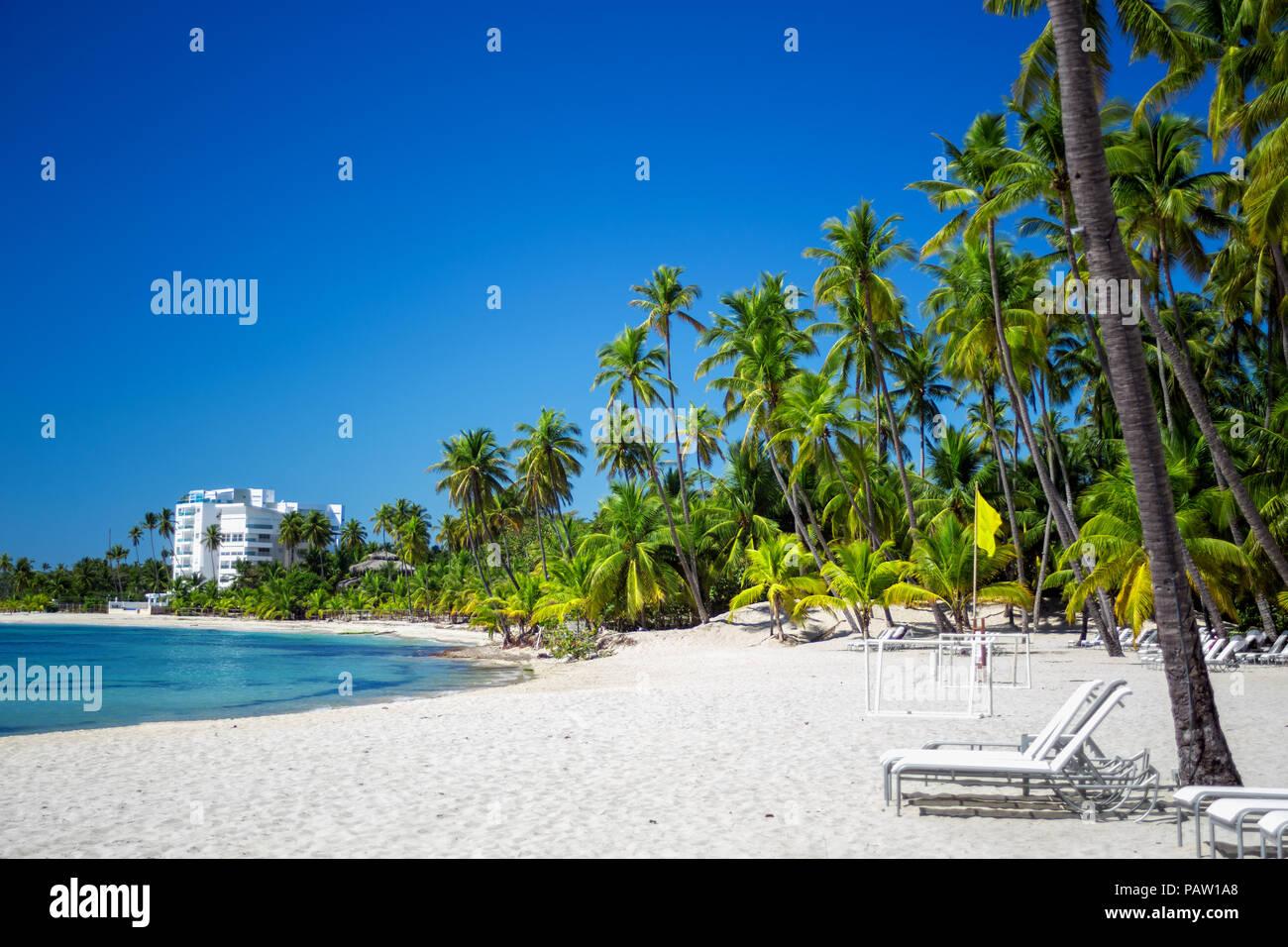 Il luogo più cool per le vacanze. Ideale vuoto spiaggia dei Caraibi Immagini Stock