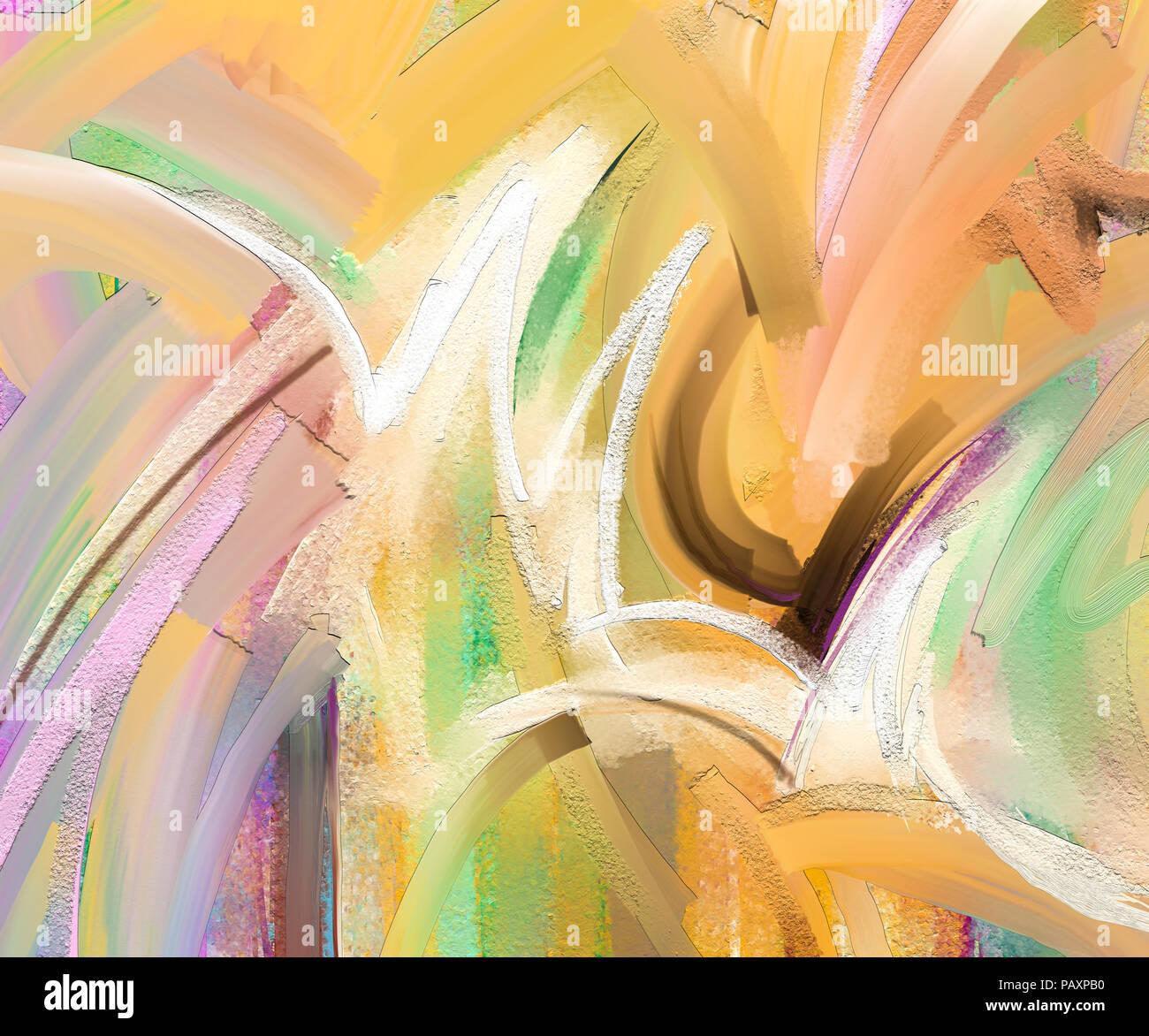 Abstract colorato la pittura ad olio su tela la texture. Disegnata a mano pennello, olio dipinti del colore dello sfondo. Arte moderna dipinti ad olio Immagini Stock