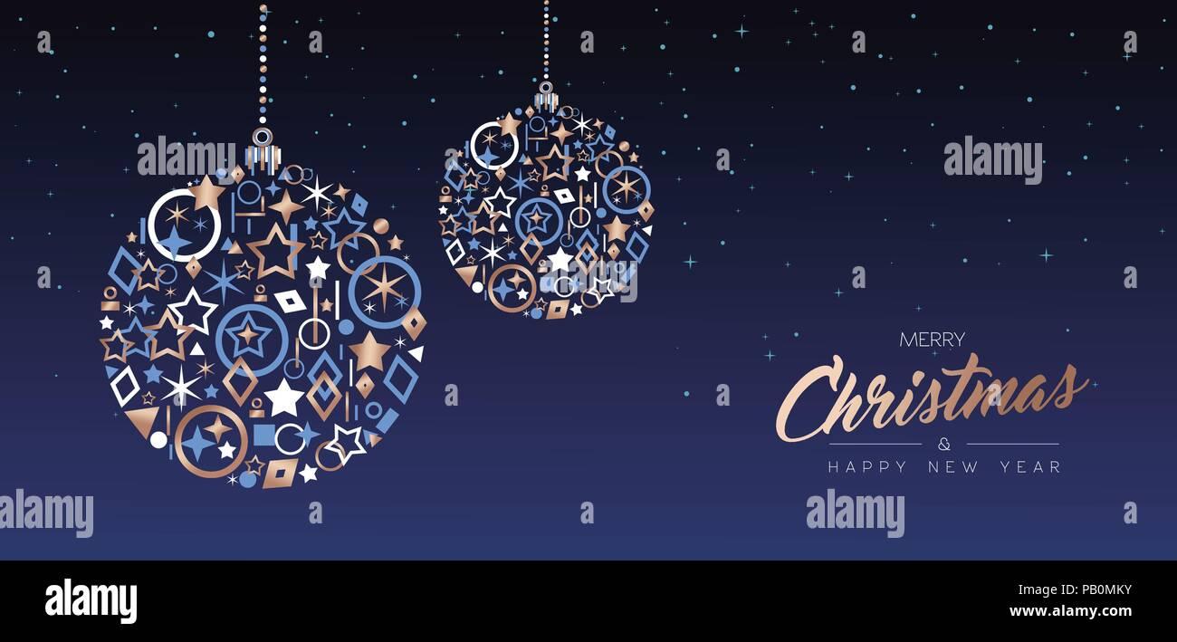 Auguri Di Buon Natale Eleganti.Auguri Di Buon Natale E Anno Nuovo Elegante Banner Web Illustrazione