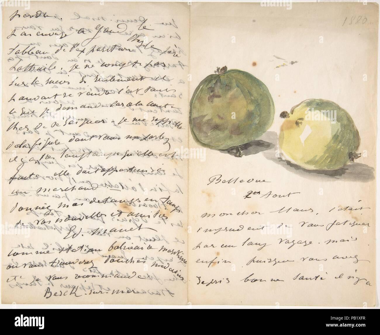Fiori Gialli 7 Lettere.Una Lettera Di Eugene Maus Decorata Con Due Prugne Artista