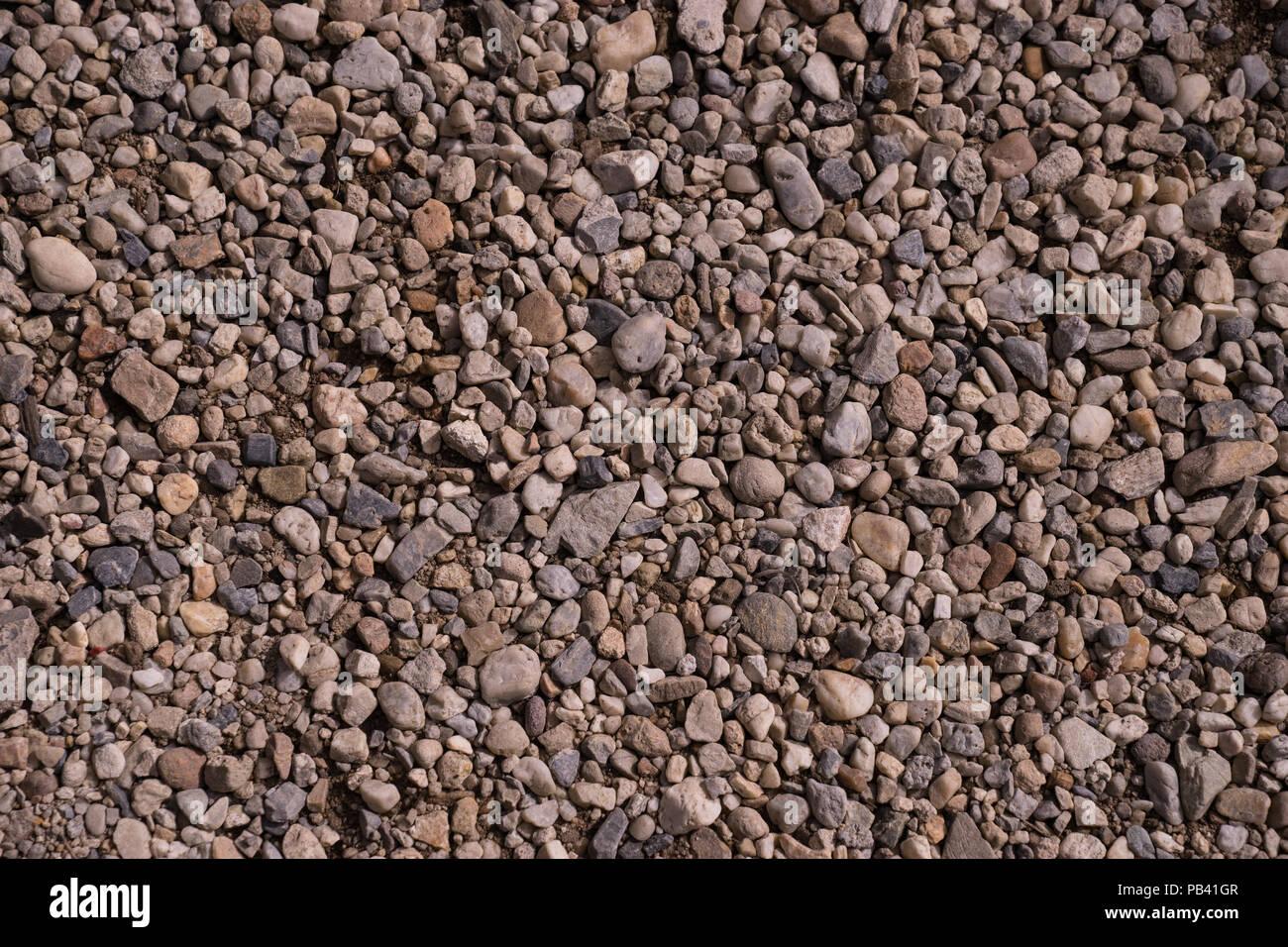 Texture pattern di piccoli ciottoli bianchi e grigi ghiaia for Ciottoli bianchi
