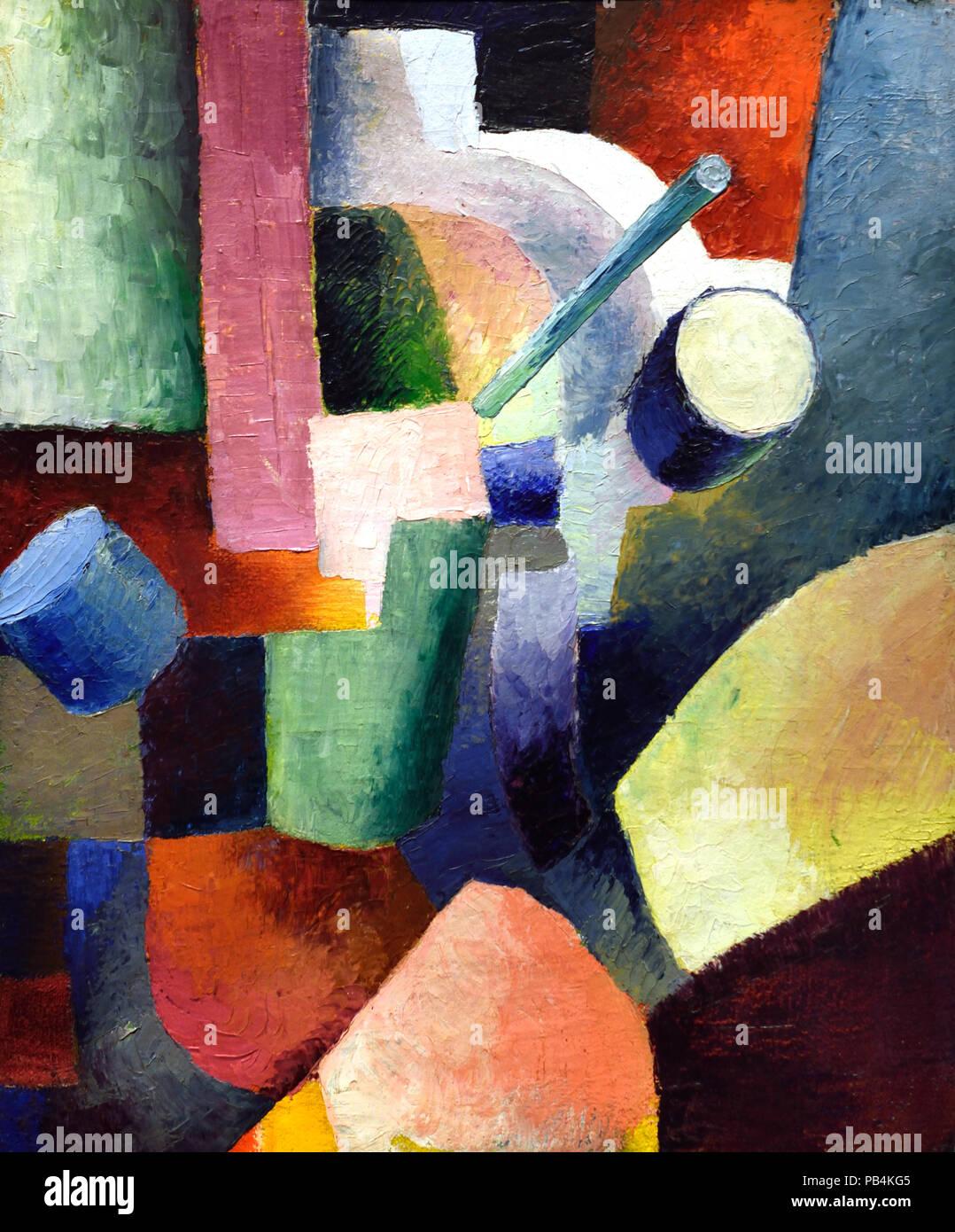 Composizione colorata di forme 1914 August Macke 1887-1914 il tedesco in Germania Immagini Stock