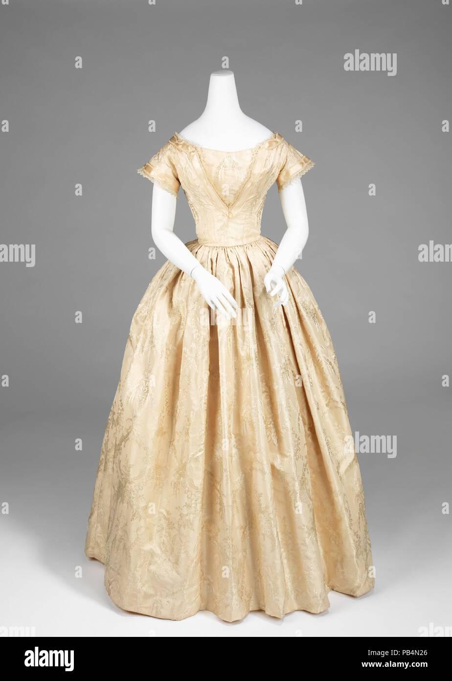 3f9c313a62e8 Abito da sposa. Cultura  American. Data  1845-50. Un buon