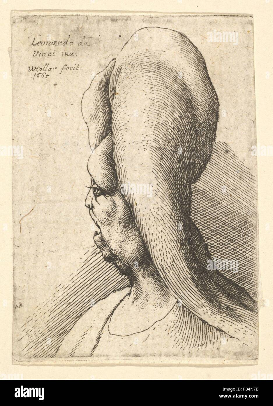 c06b6e6af Busto di un deformato vecchia donna con un dente rivolto verso sinistra.  Artista  Wenceslaus Hollar (boemo