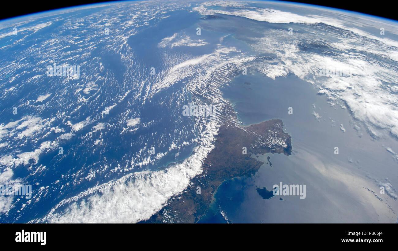 L istmo di Panama come visto dallo spazio. Immagini Stock