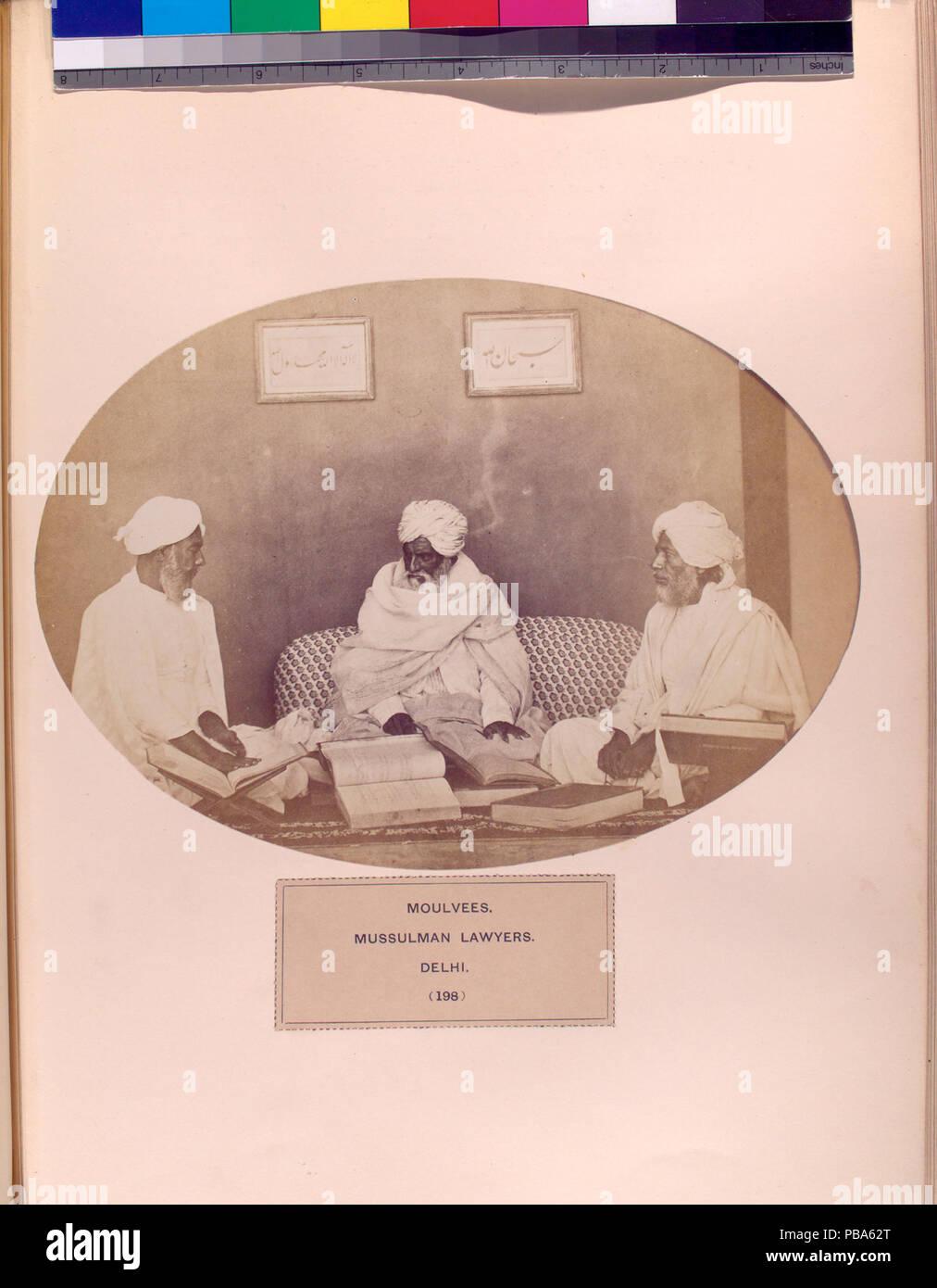 1062 Moulvees, Mussulman avvocati, Delhi (NYPL b13409080-1125437) Immagini Stock