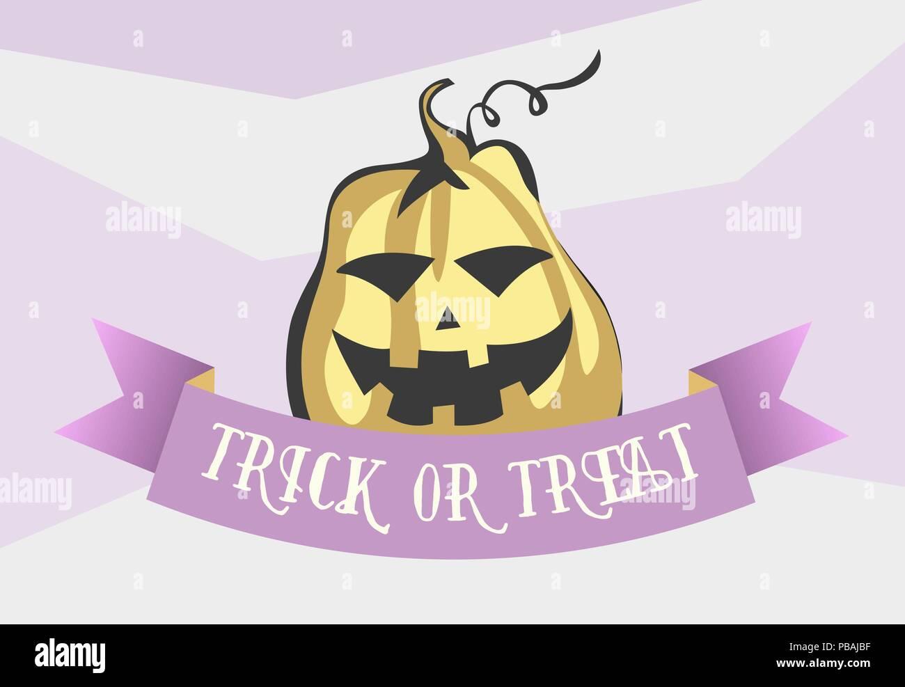 Dolcetto o scherzetto halloween in stile cartone animato immagine
